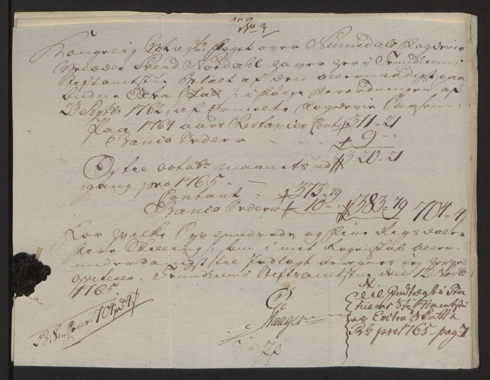 RA, Rentekammeret inntil 1814, Reviderte regnskaper, Fogderegnskap, R64/L4502: Ekstraskatten Namdal, 1762-1772, s. 207