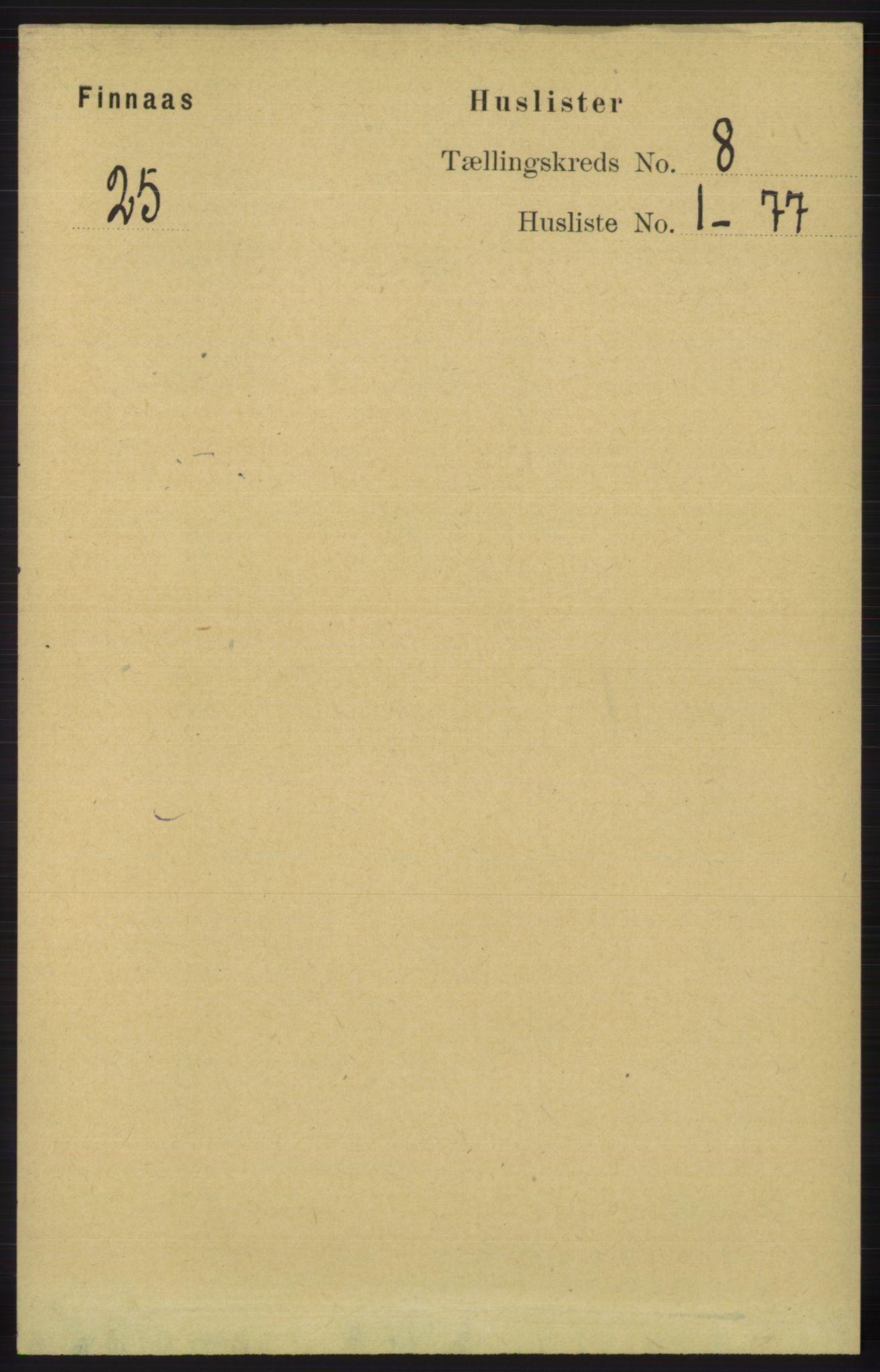 RA, Folketelling 1891 for 1218 Finnås herred, 1891, s. 3294