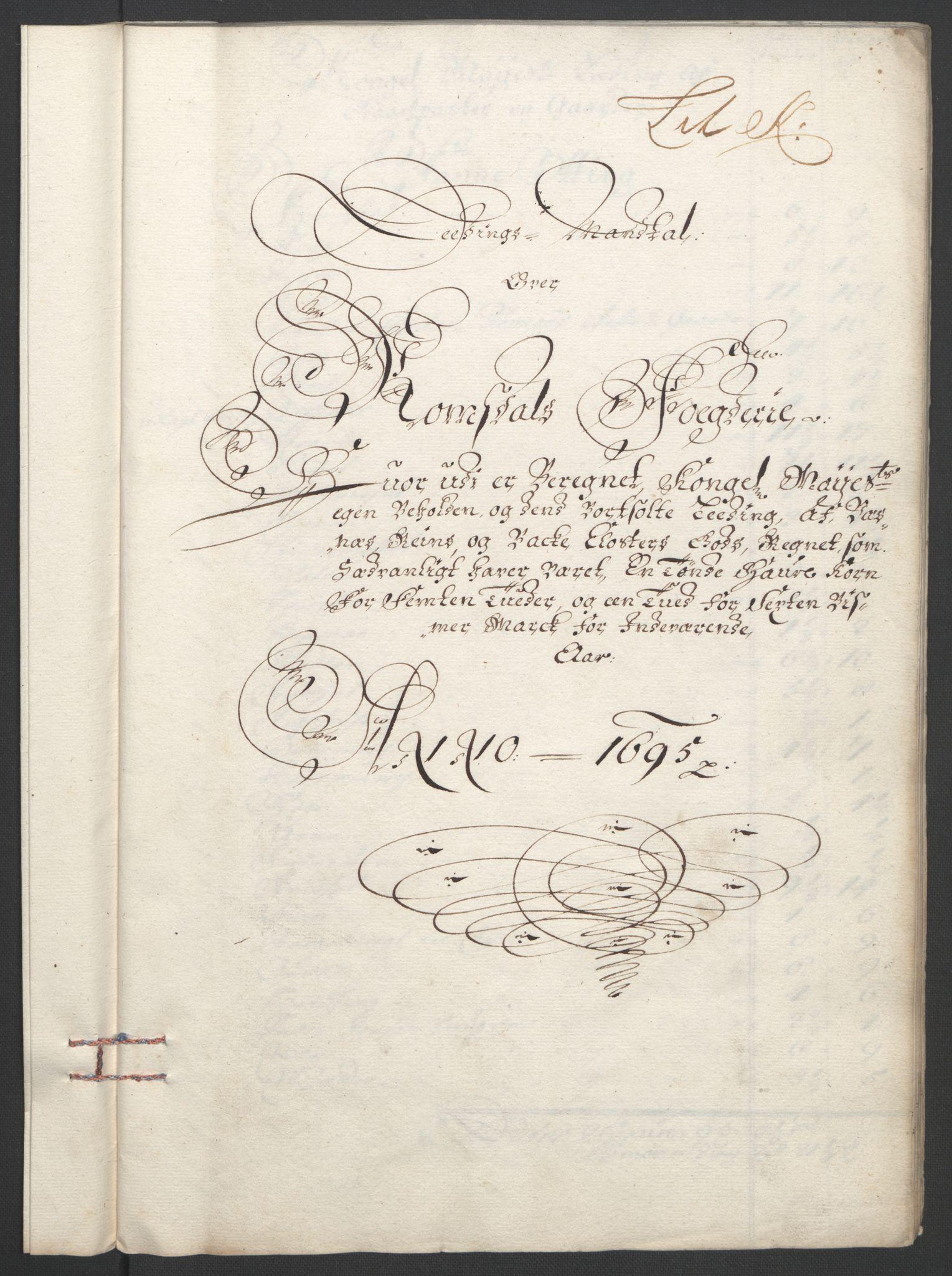 RA, Rentekammeret inntil 1814, Reviderte regnskaper, Fogderegnskap, R55/L3652: Fogderegnskap Romsdal, 1695-1696, s. 101