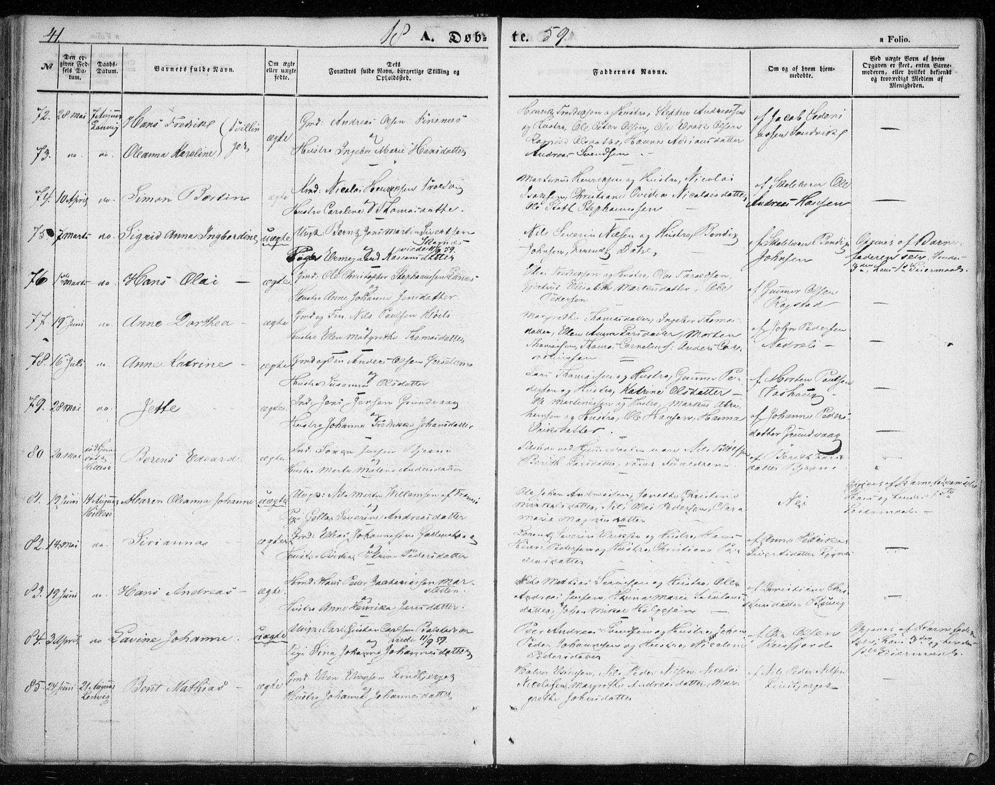 SATØ, Lenvik sokneprestembete, H/Ha: Ministerialbok nr. 7, 1855-1865, s. 41