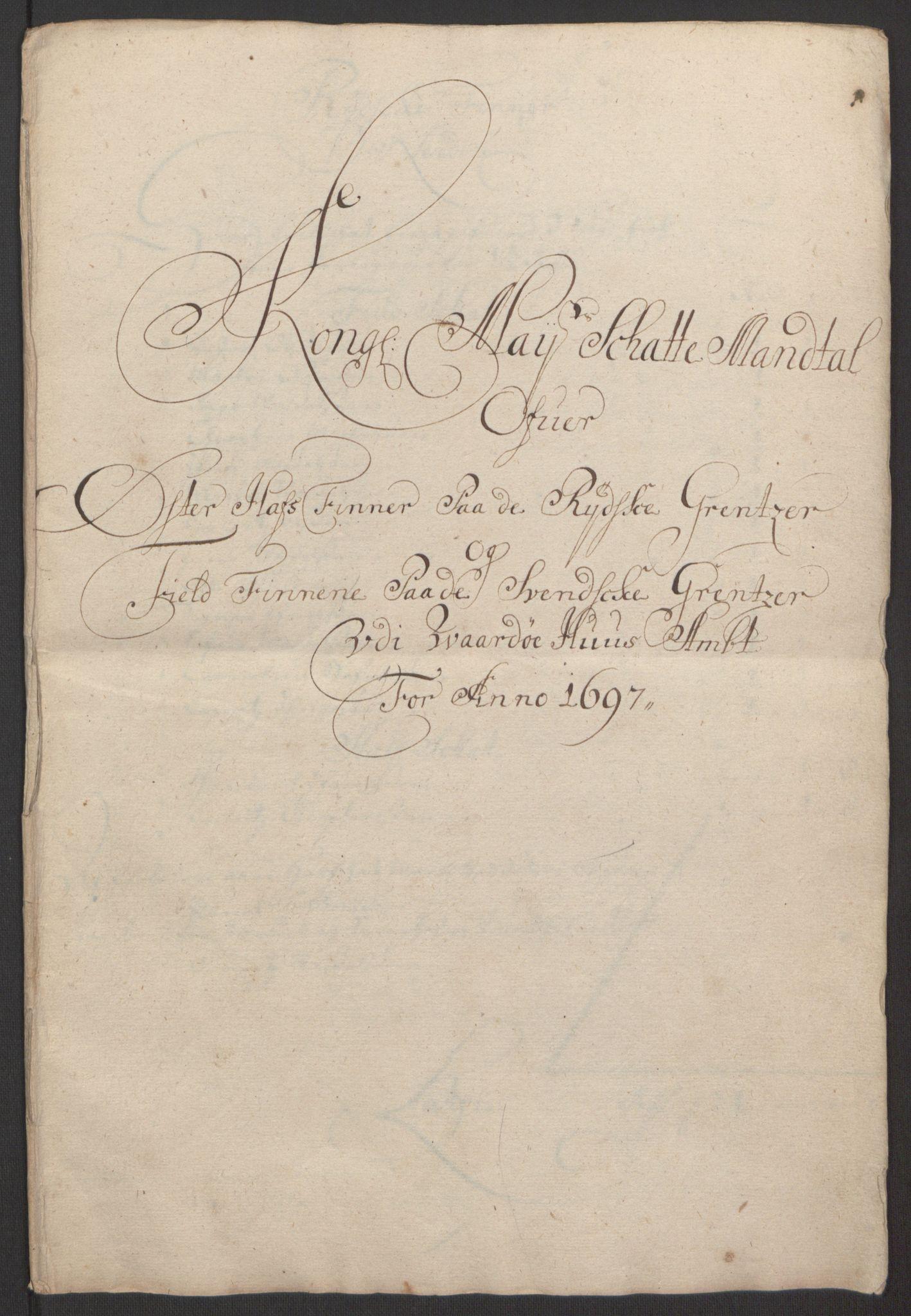 RA, Rentekammeret inntil 1814, Reviderte regnskaper, Fogderegnskap, R69/L4851: Fogderegnskap Finnmark/Vardøhus, 1691-1700, s. 298