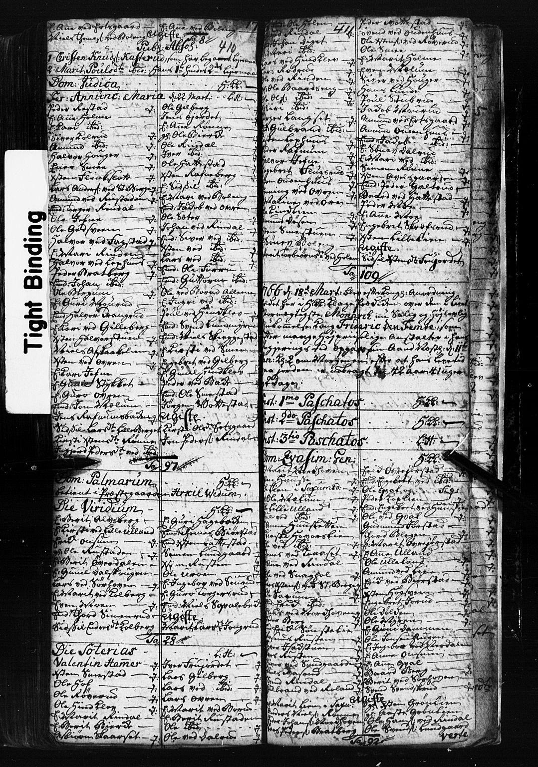 SAH, Fåberg prestekontor, Klokkerbok nr. 1, 1727-1767, s. 410-411