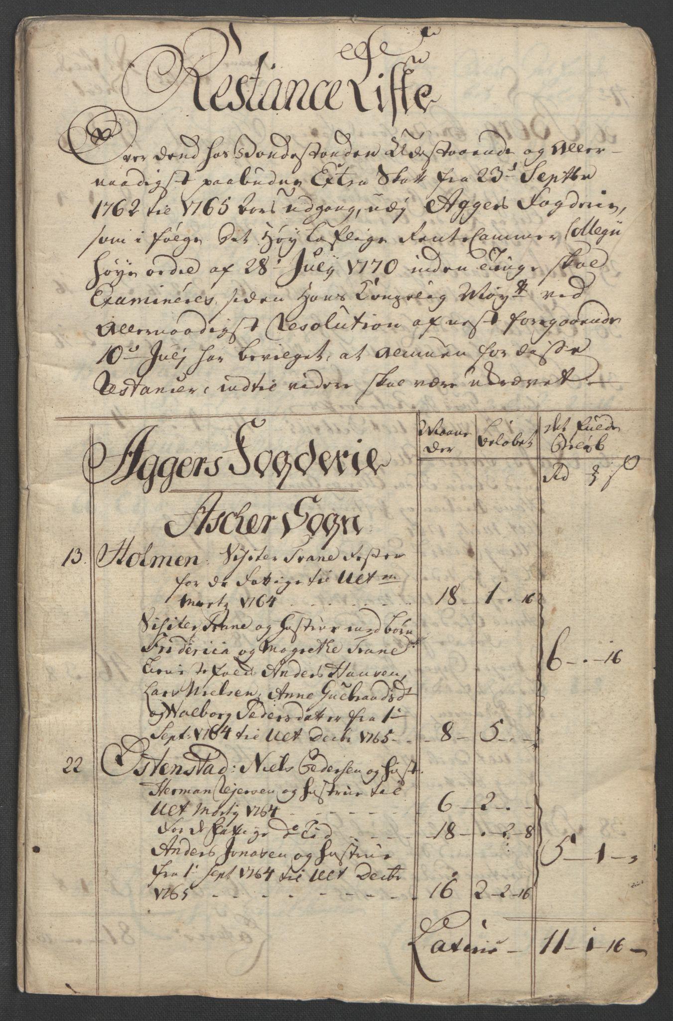 RA, Rentekammeret inntil 1814, Reviderte regnskaper, Fogderegnskap, R10/L0560: Ekstraskatten Aker og Follo, 1763, s. 242
