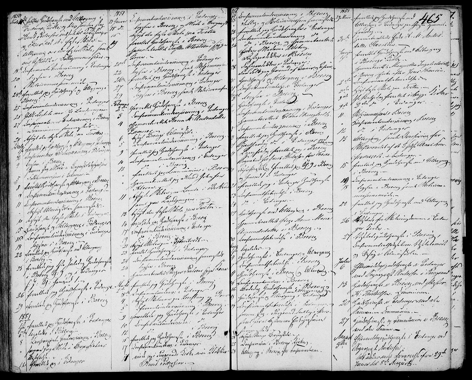 SAKO, Eidanger kirkebøker, F/Fa/L0008: Ministerialbok nr. 8, 1831-1858, s. 465