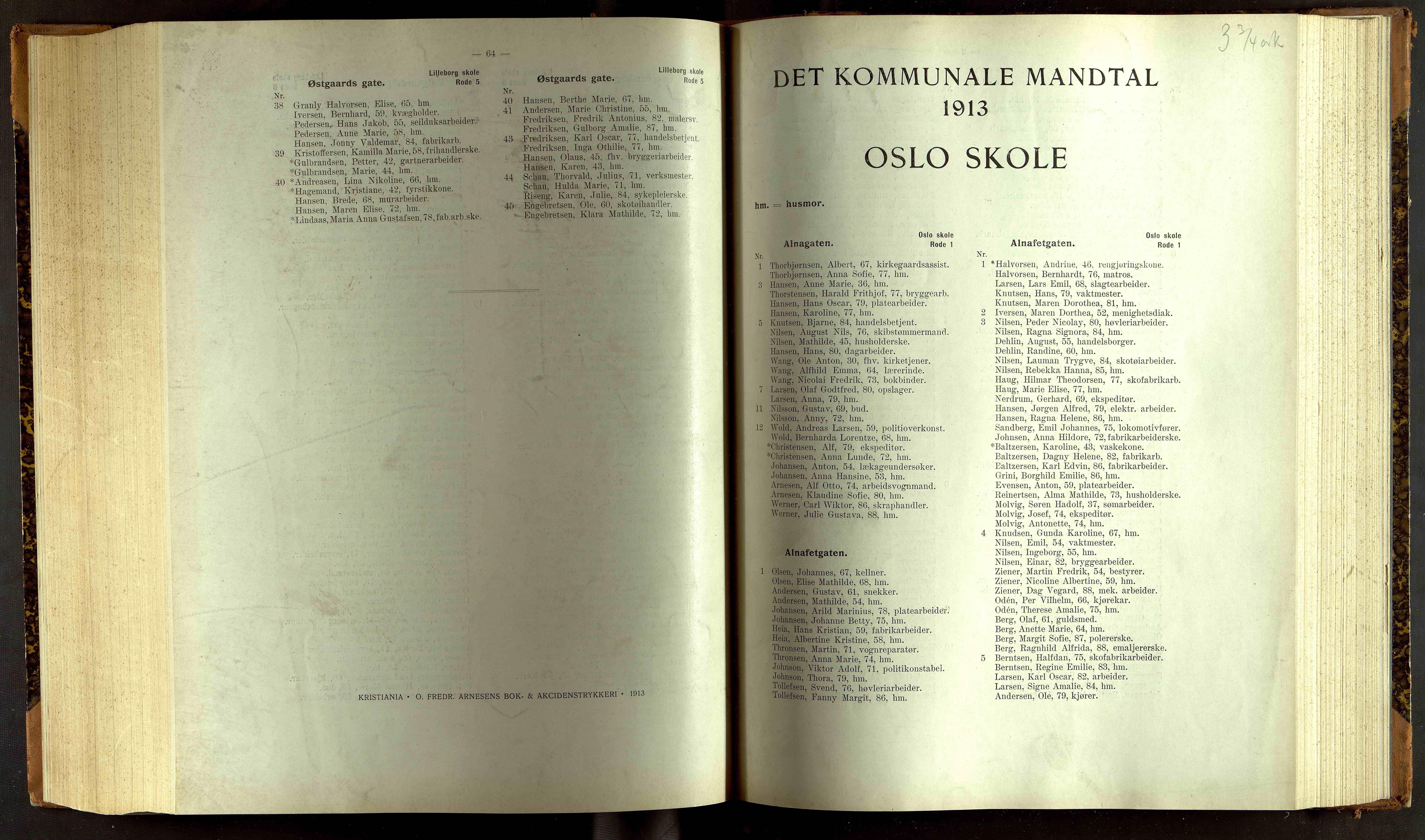 OBA, Folkeregisteret ( Valgstyret ), 1913, s. 7064-8001