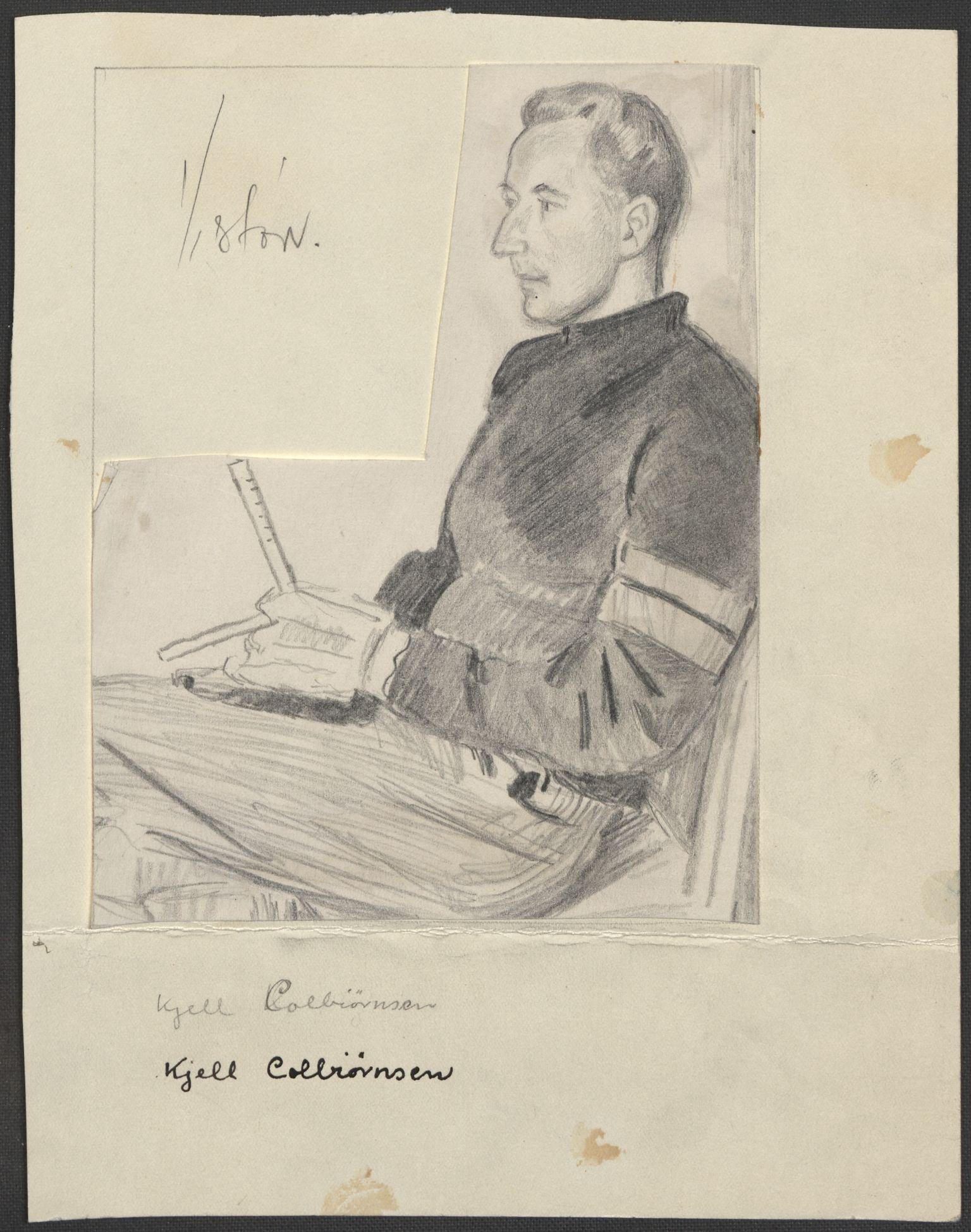 RA, Grøgaard, Joachim, F/L0002: Tegninger og tekster, 1942-1945, s. 31
