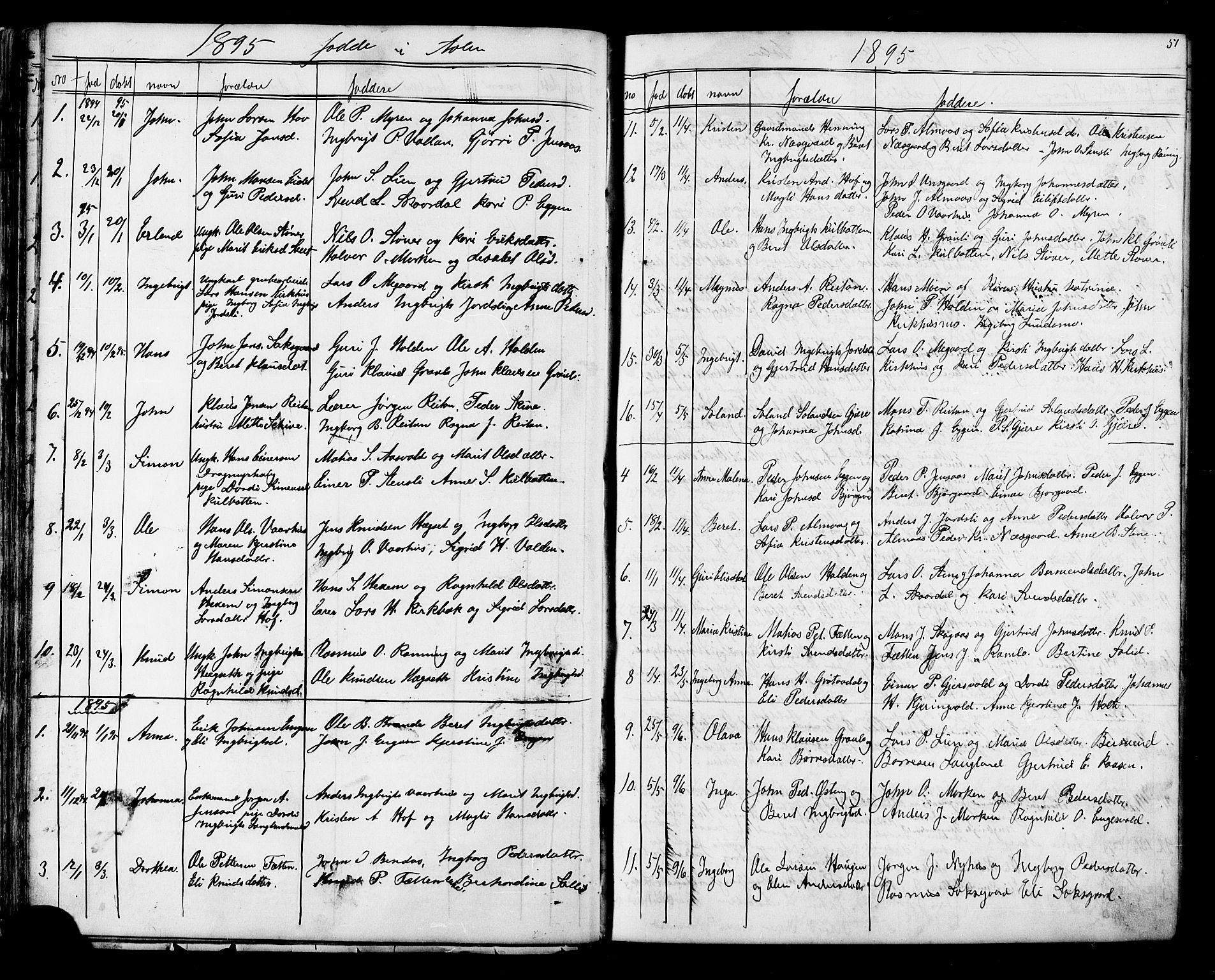 SAT, Ministerialprotokoller, klokkerbøker og fødselsregistre - Sør-Trøndelag, 686/L0985: Klokkerbok nr. 686C01, 1871-1933, s. 51