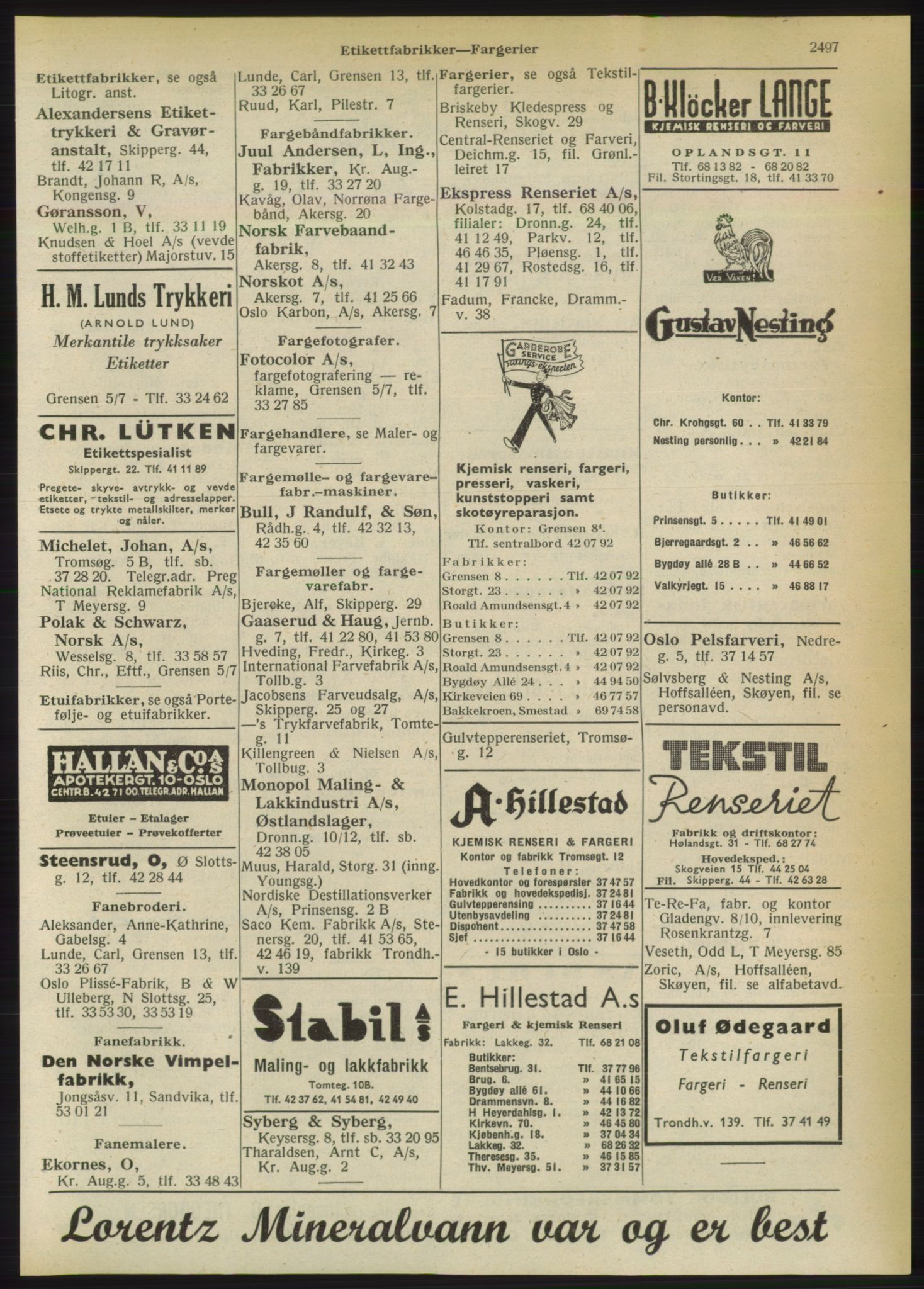RA, Oslo adressebok (publikasjon)*, 1950, s. 2497