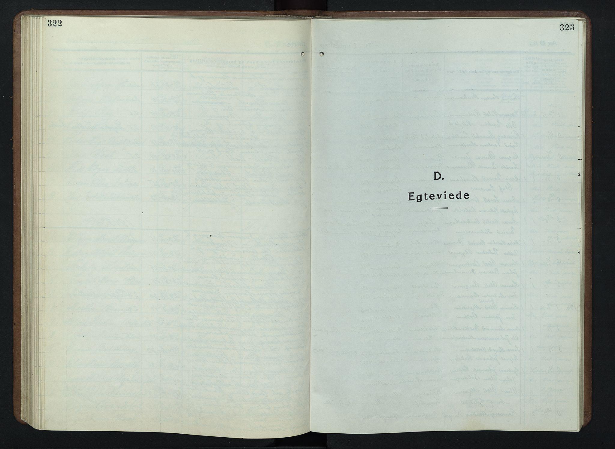 SAH, Nord-Fron prestekontor, Klokkerbok nr. 7, 1915-1946, s. 322-323