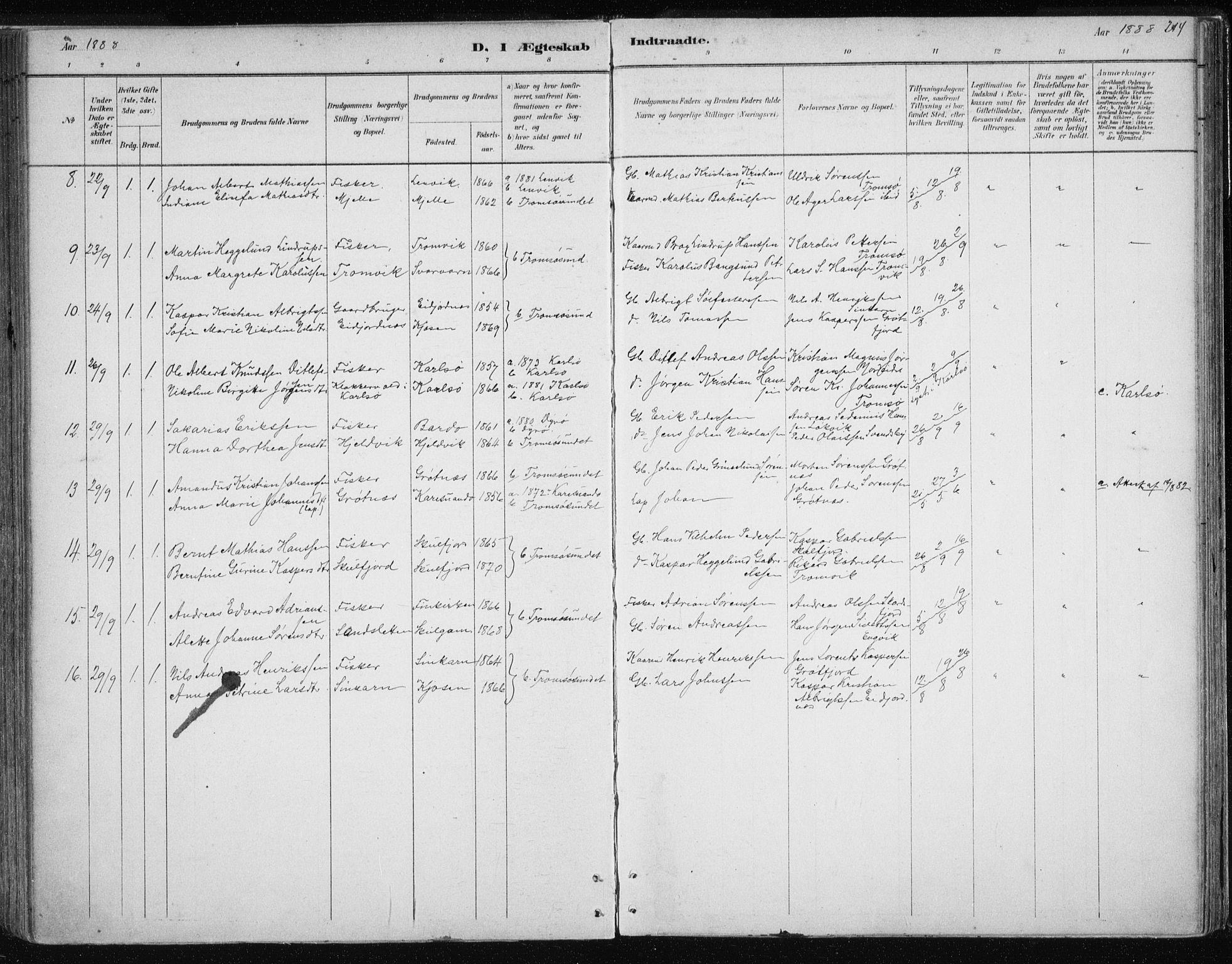 SATØ, Tromsøysund sokneprestkontor, G/Ga/L0004kirke: Ministerialbok nr. 4, 1880-1888, s. 214