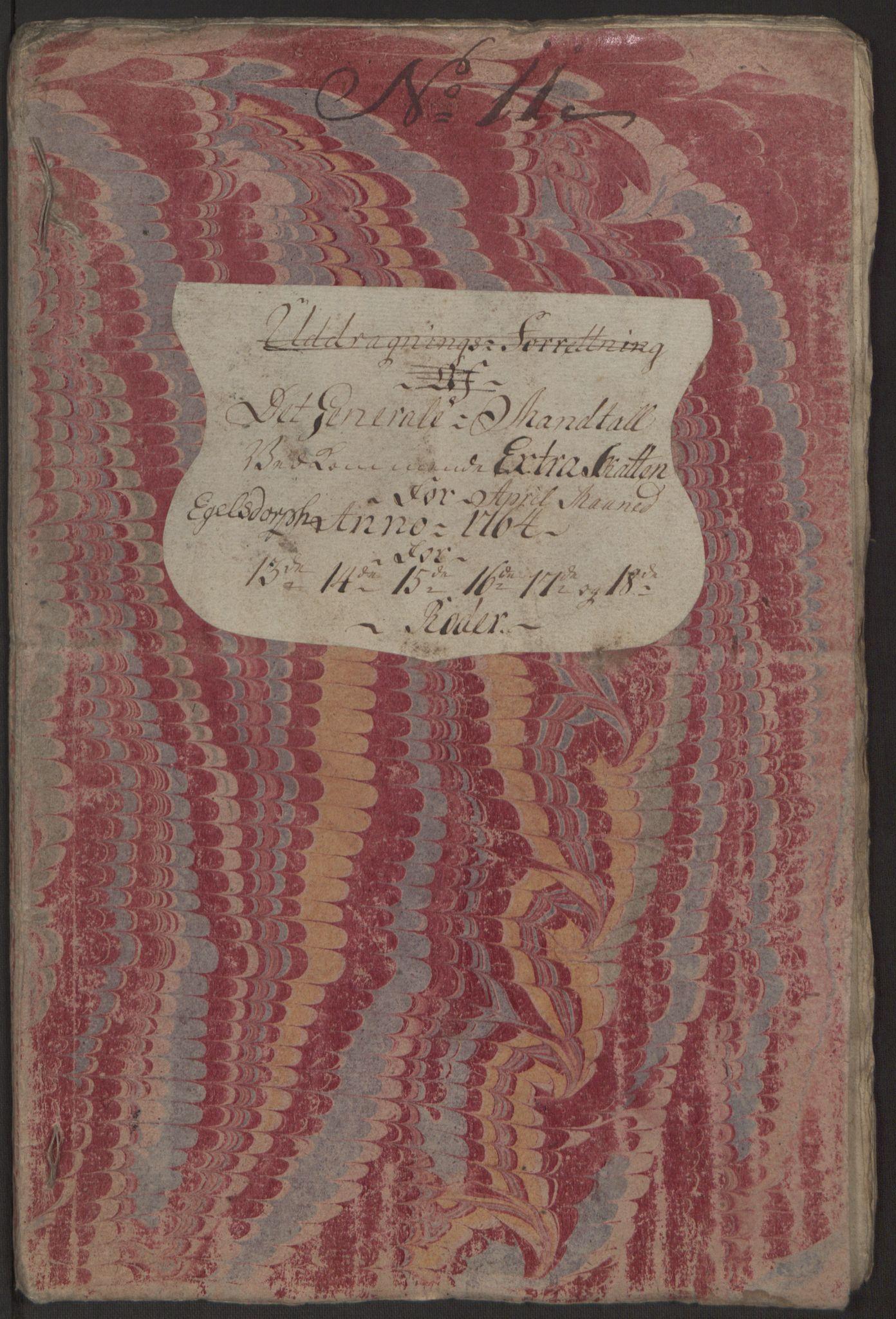 RA, Rentekammeret inntil 1814, Reviderte regnskaper, Byregnskaper, R/Rp/L0368: [P21] Kontribusjonsregnskap, 1764, s. 72