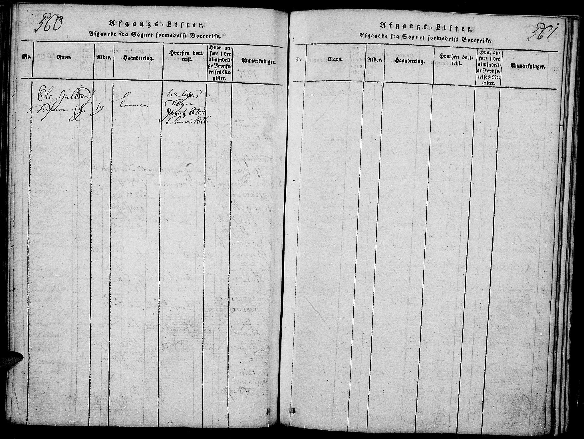 SAH, Slidre prestekontor, Ministerialbok nr. 2, 1814-1830, s. 560-561