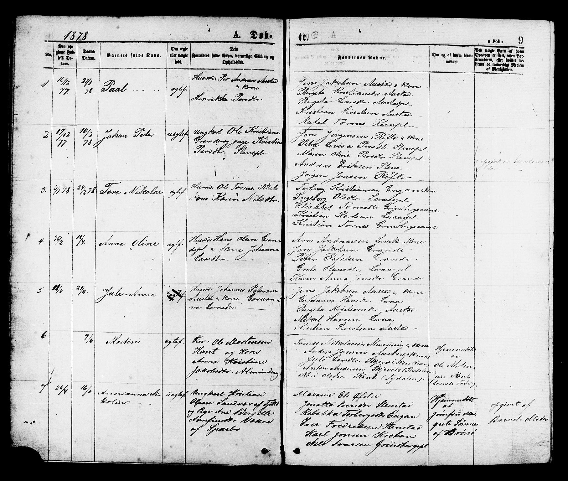 SAT, Ministerialprotokoller, klokkerbøker og fødselsregistre - Nord-Trøndelag, 731/L0311: Klokkerbok nr. 731C02, 1875-1911, s. 9