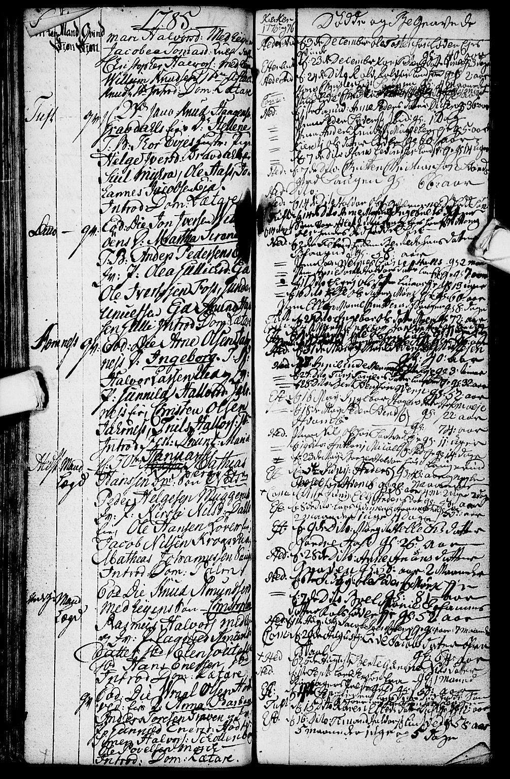 SAKO, Sandsvær kirkebøker, G/Ga/L0001: Klokkerbok nr. I 1, 1775-1786