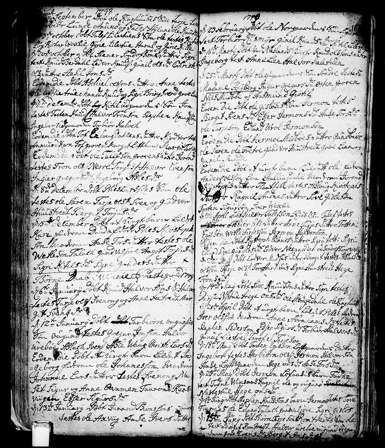 SAKO, Vinje kirkebøker, F/Fa/L0001: Ministerialbok nr. I 1, 1717-1766, s. 103
