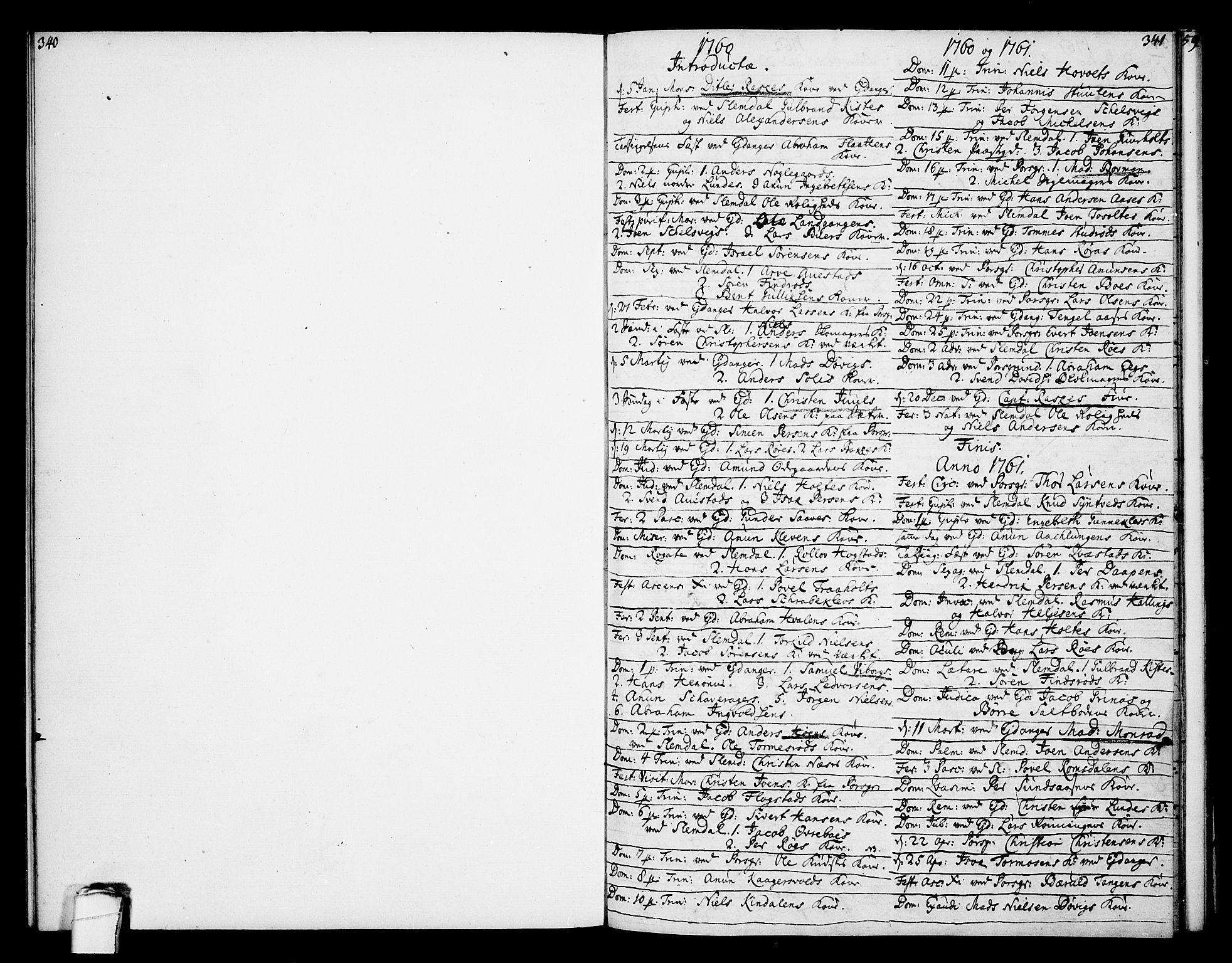 SAKO, Eidanger kirkebøker, F/Fa/L0005: Ministerialbok nr. 5, 1760-1764, s. 340-341