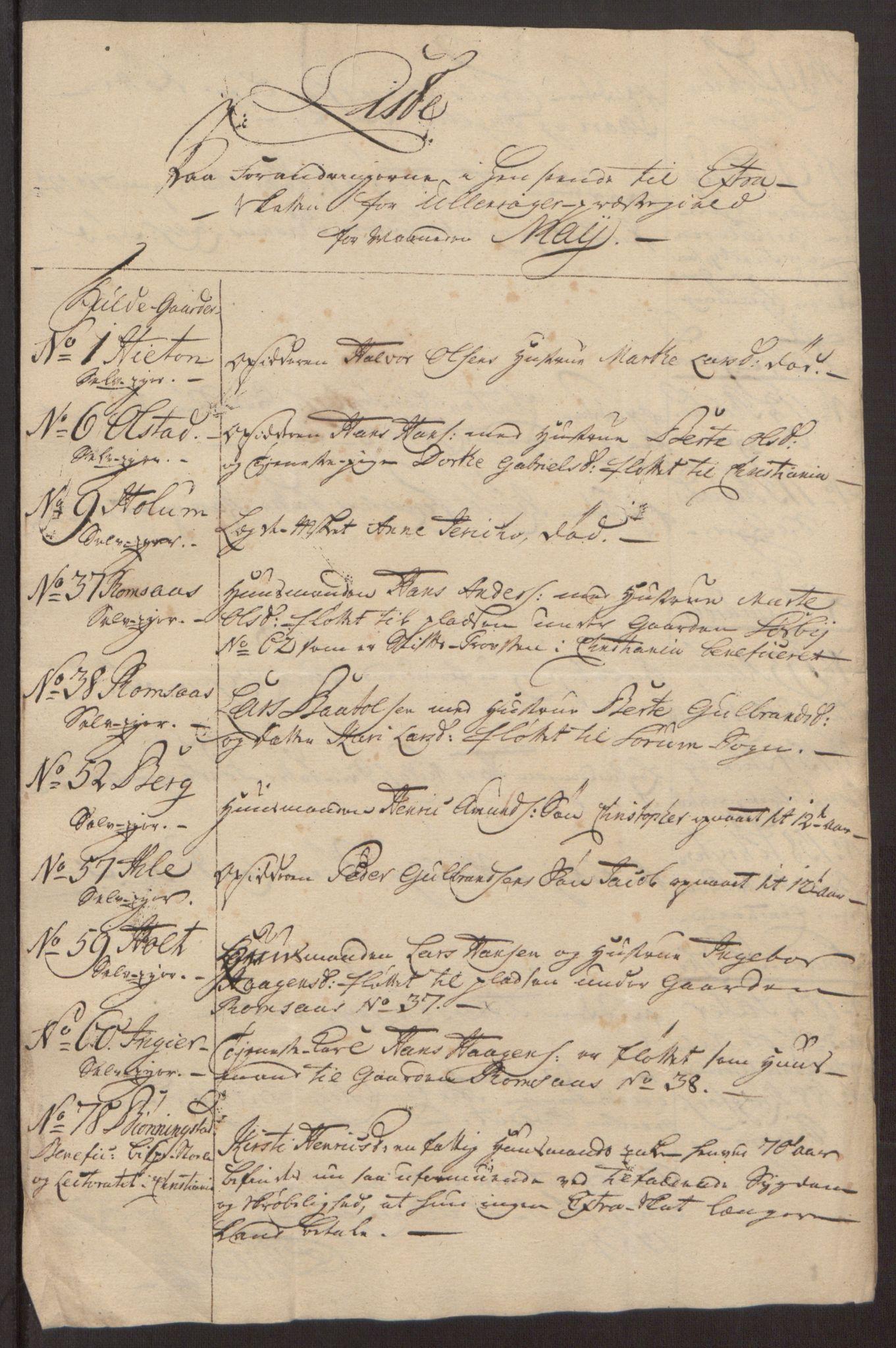 RA, Rentekammeret inntil 1814, Reviderte regnskaper, Fogderegnskap, R12/L0803: Ekstraskatten Øvre Romerike, 1763-1764, s. 420