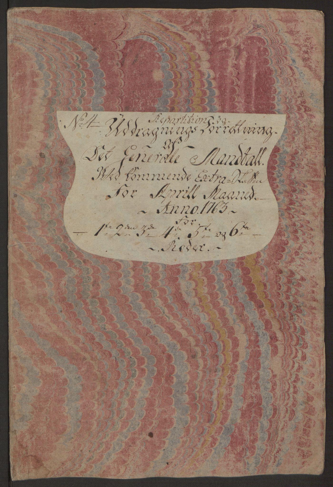 RA, Rentekammeret inntil 1814, Reviderte regnskaper, Byregnskaper, R/Rp/L0366: [P20] Kontribusjonsregnskap, 1763, s. 197