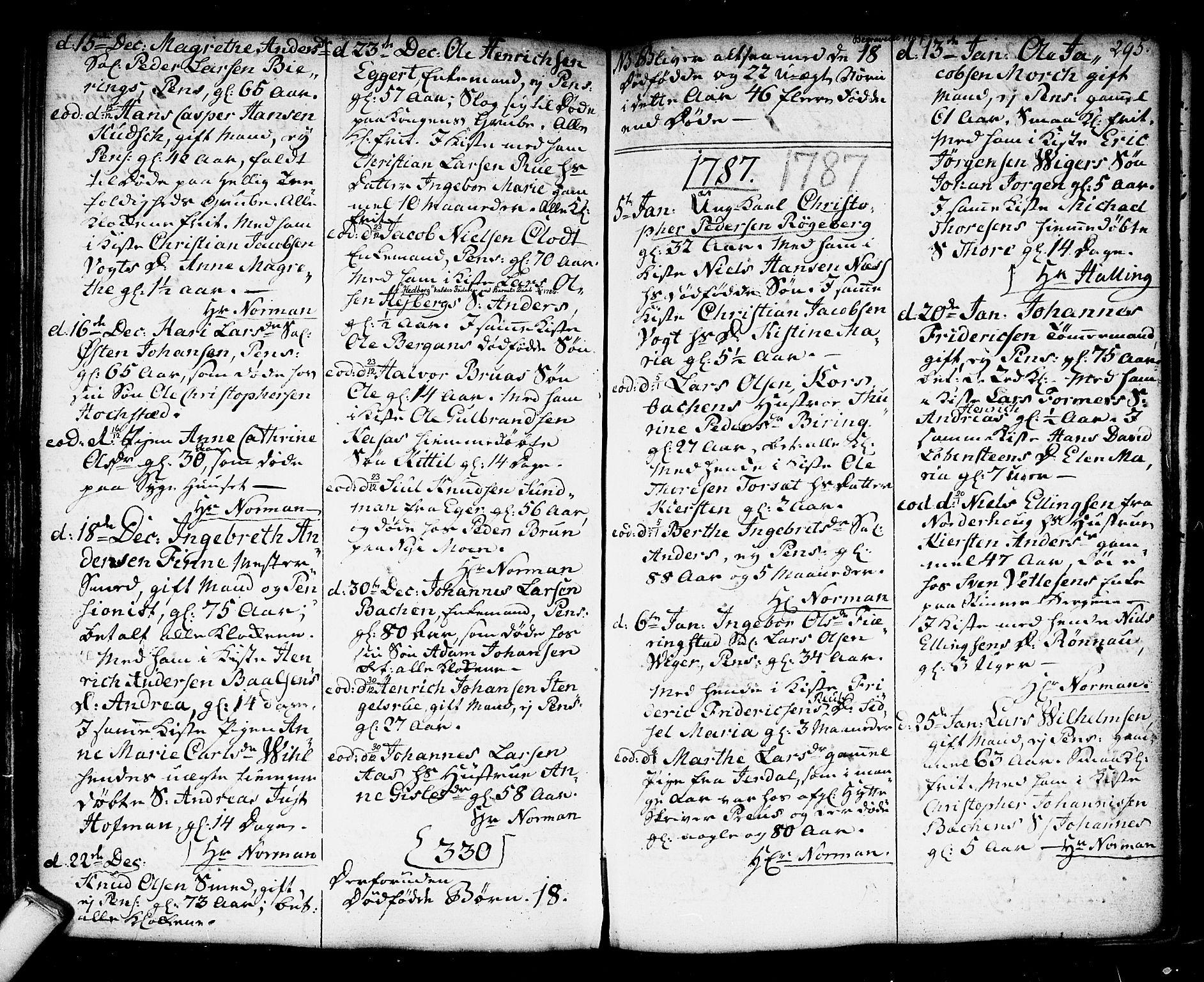 SAKO, Kongsberg kirkebøker, F/Fa/L0006: Ministerialbok nr. I 6, 1783-1797, s. 295