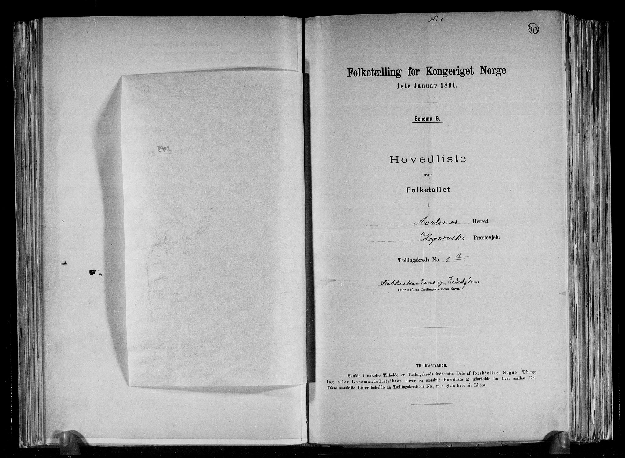 RA, Folketelling 1891 for 1147 Avaldsnes herred, 1891, s. 5