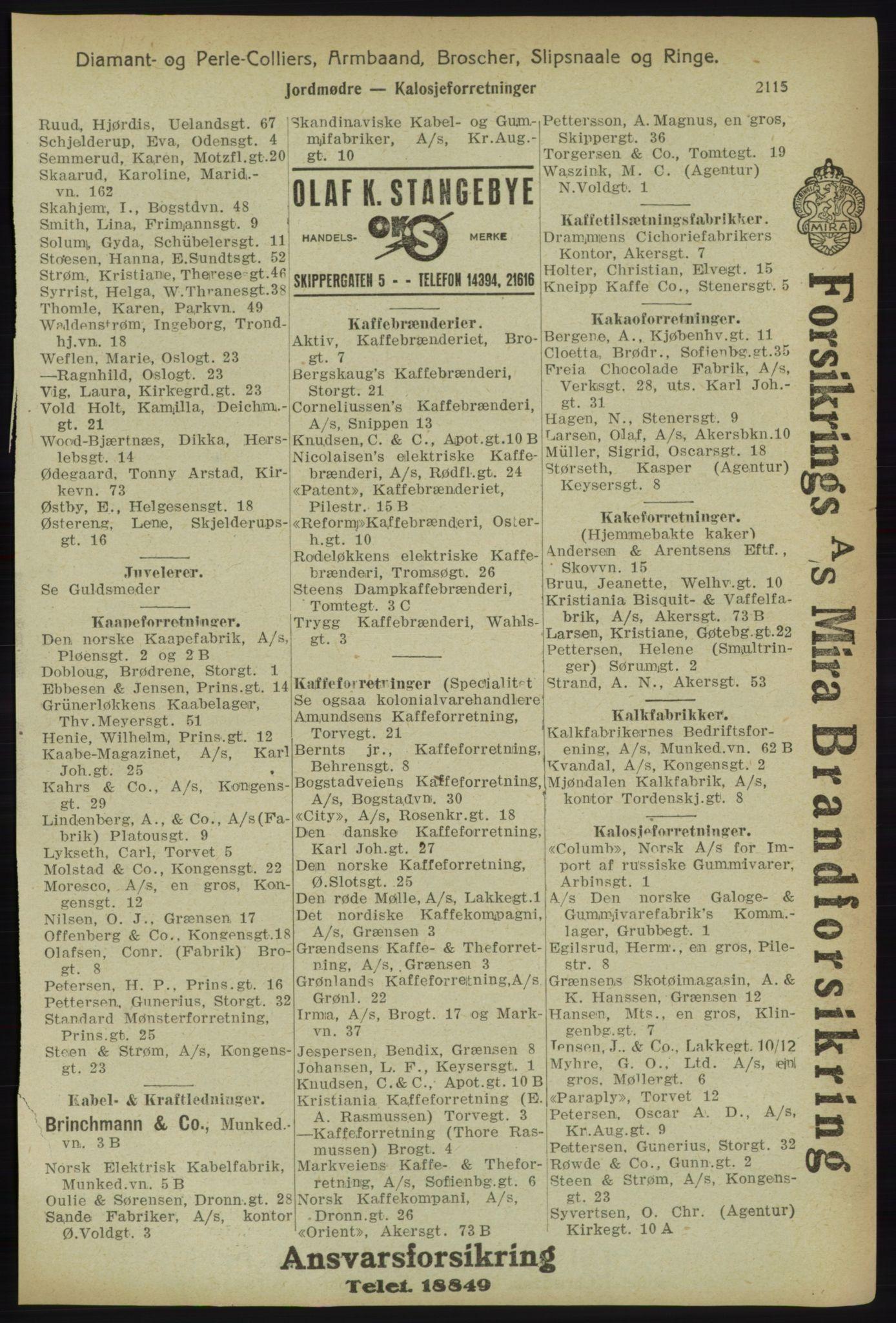 PUBL, Kristiania/Oslo adressebok, 1918, s. 2268