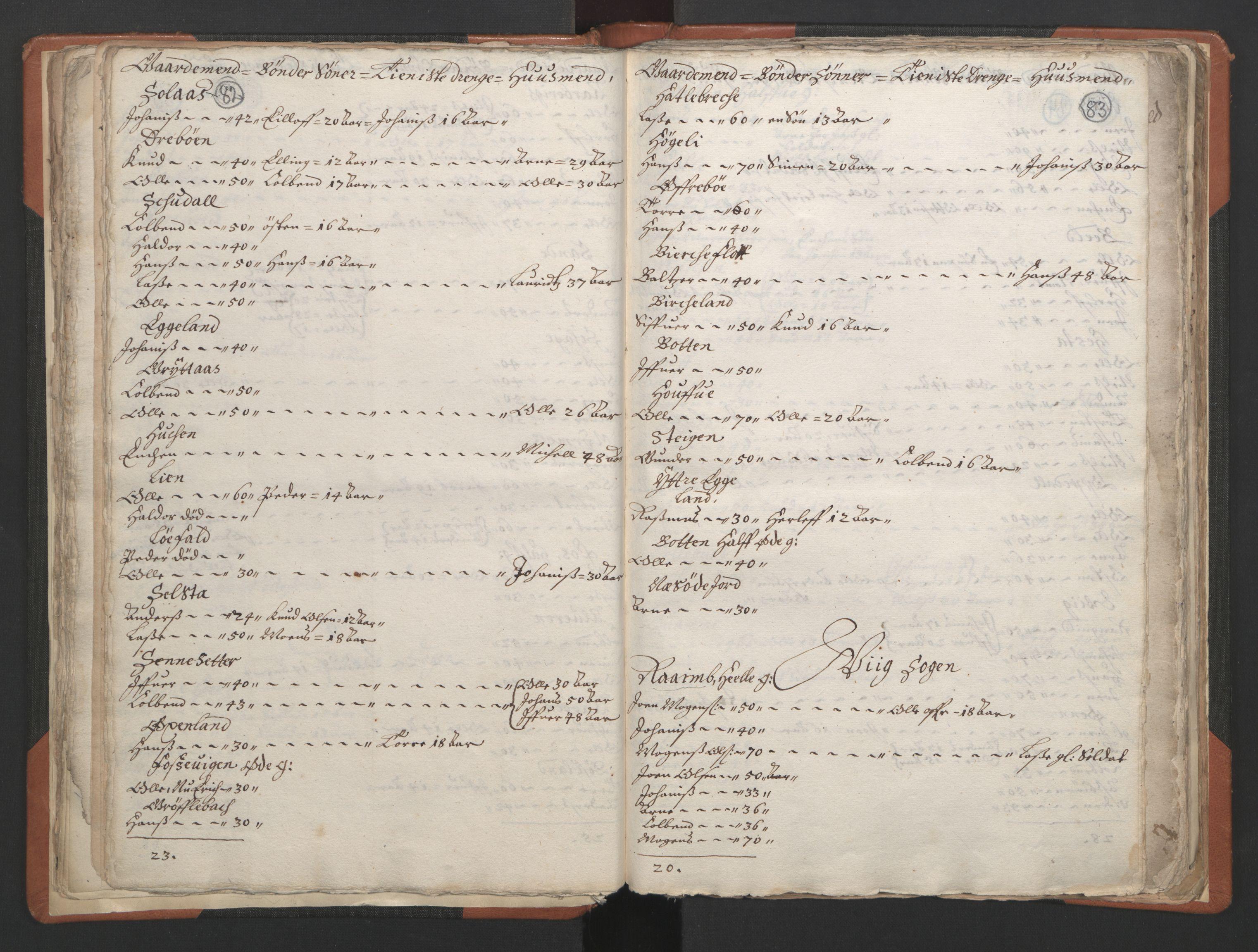 RA, Sogneprestenes manntall 1664-1666, nr. 24: Sunnfjord prosti, 1664-1666, s. 82-83