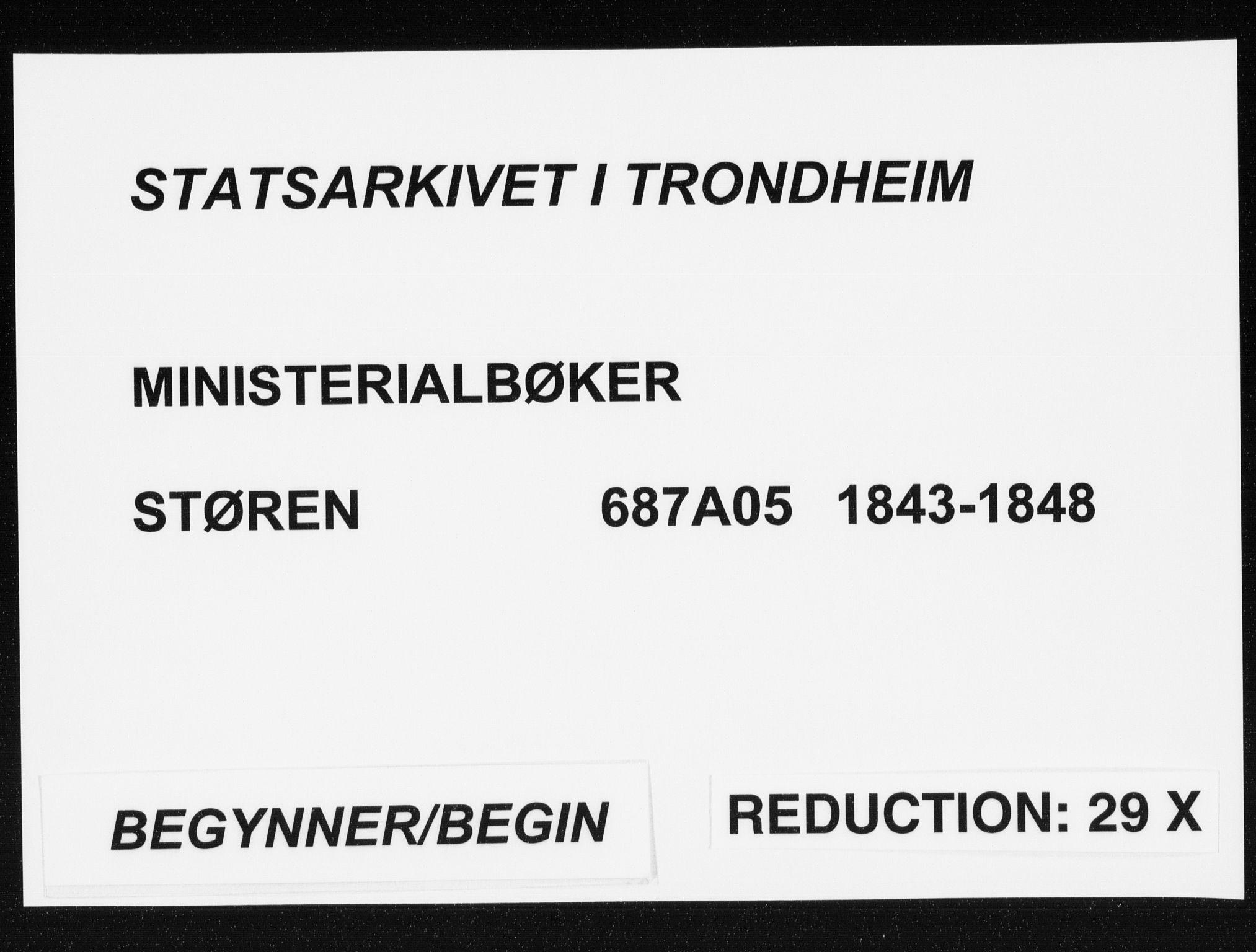 SAT, Ministerialprotokoller, klokkerbøker og fødselsregistre - Sør-Trøndelag, 687/L0997: Ministerialbok nr. 687A05 /1, 1843-1848