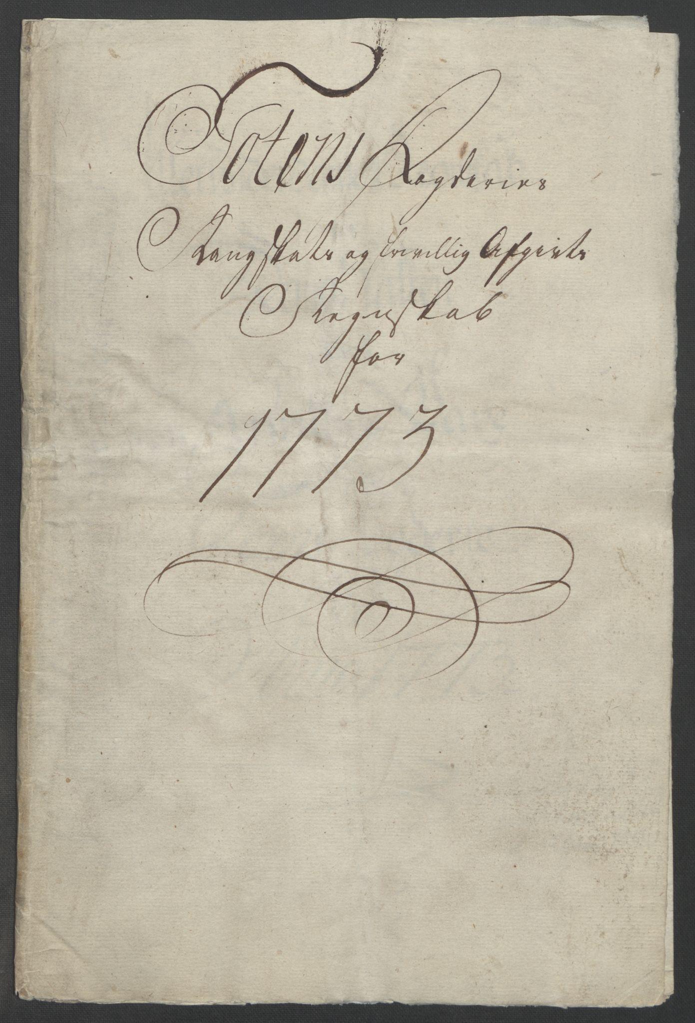 RA, Rentekammeret inntil 1814, Reviderte regnskaper, Fogderegnskap, R19/L1399: Fogderegnskap Toten, Hadeland og Vardal, 1762-1783, s. 292