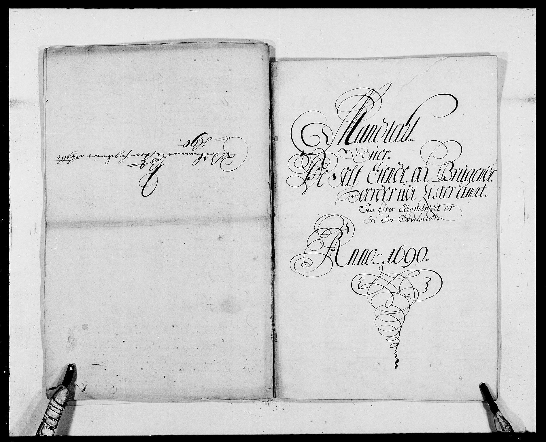 RA, Rentekammeret inntil 1814, Reviderte regnskaper, Fogderegnskap, R41/L2536: Fogderegnskap Lista, 1690-1693, s. 78
