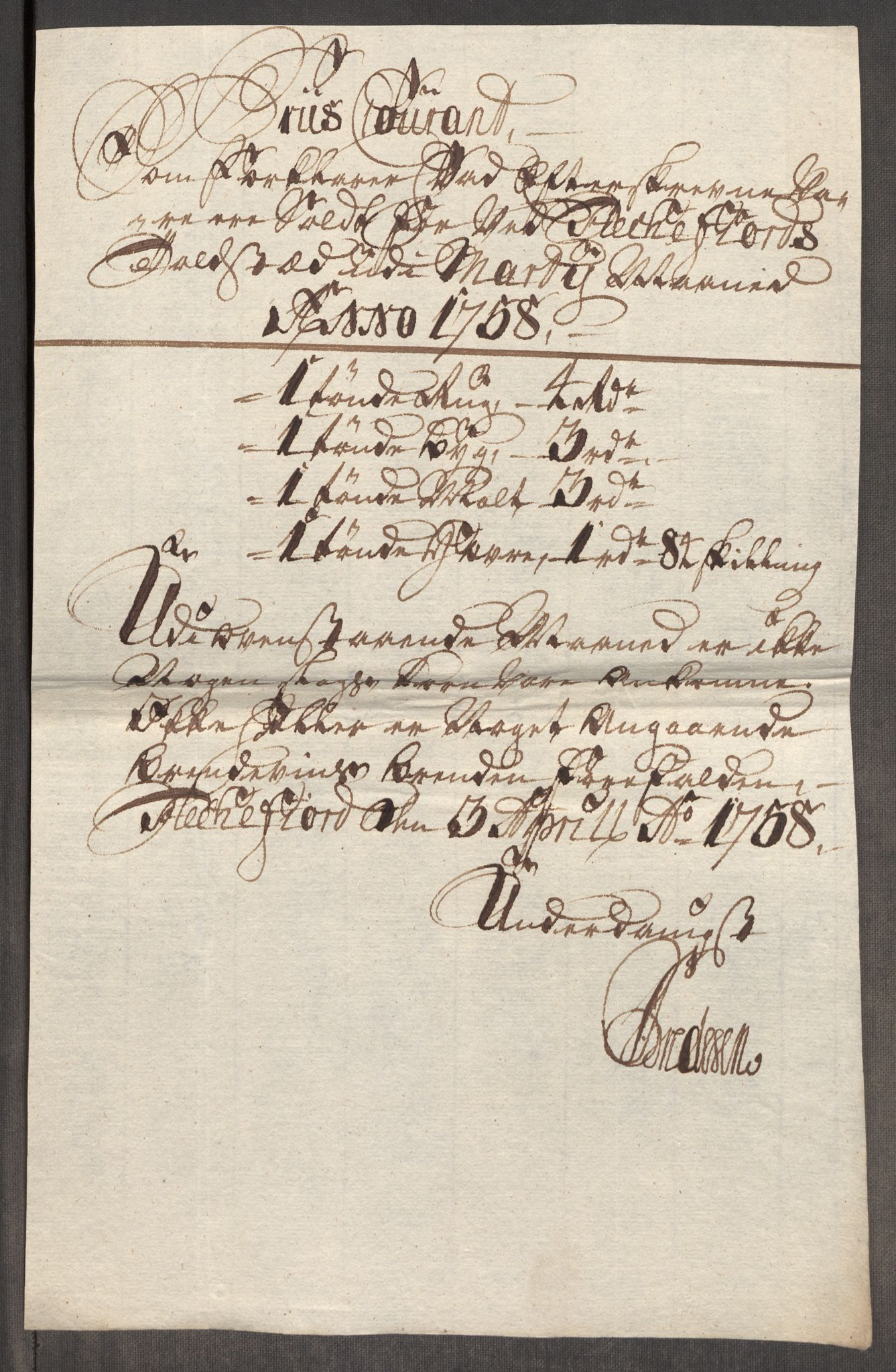 RA, Rentekammeret inntil 1814, Realistisk ordnet avdeling, Oe/L0006: [Ø1]: Priskuranter, 1758-1760, s. 298