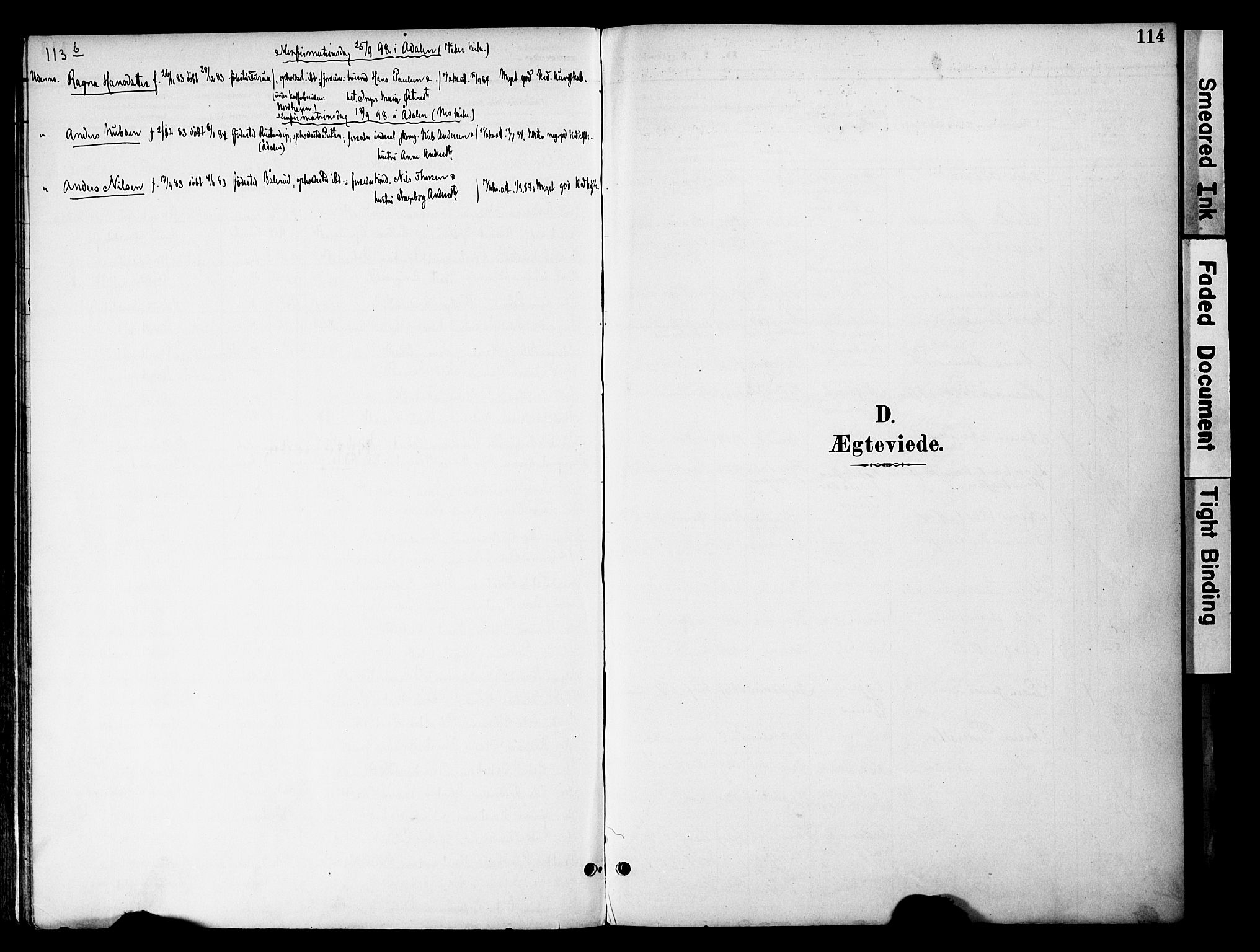 SAH, Gran prestekontor, Ministerialbok nr. 20, 1889-1899, s. 114