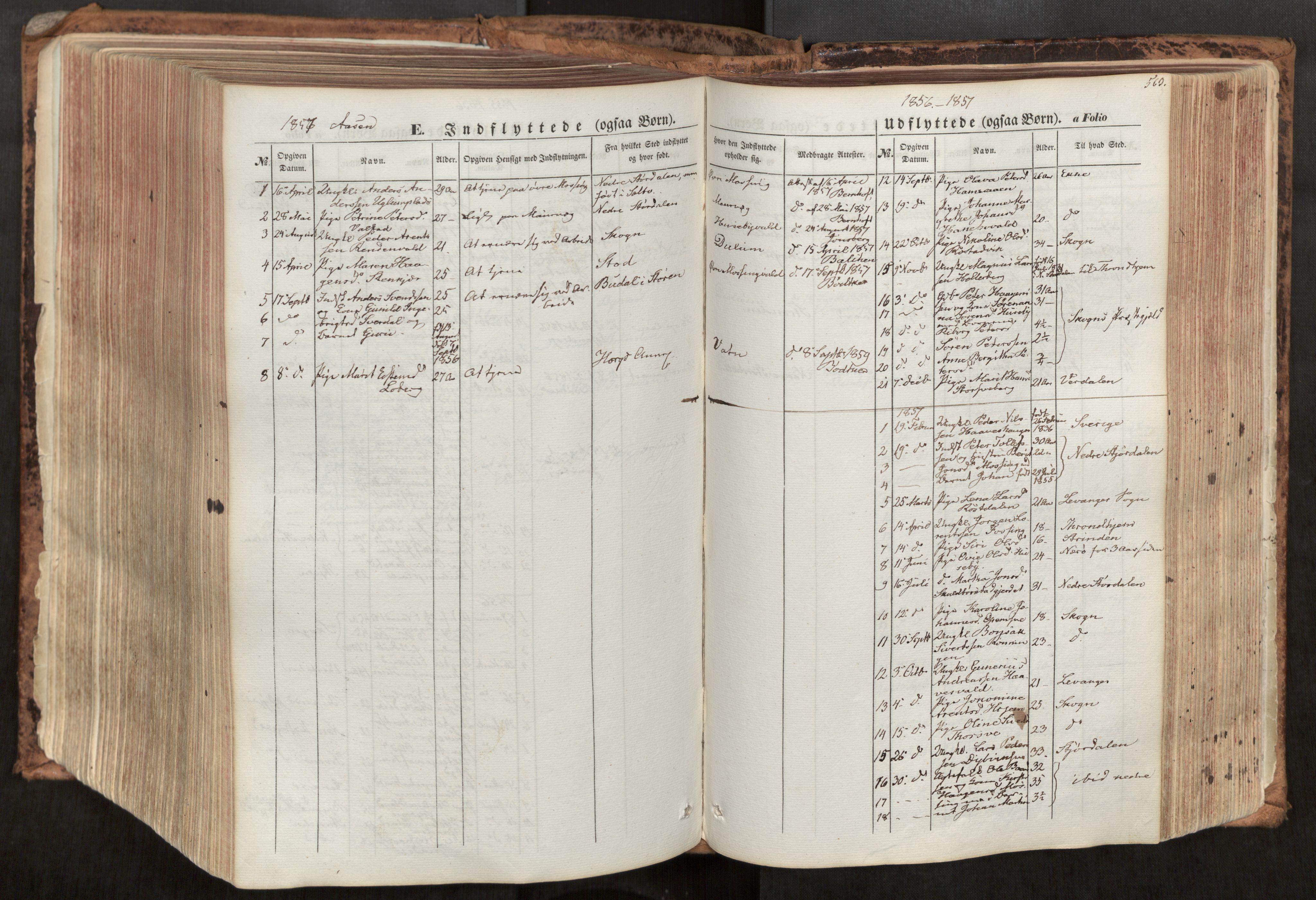 SAT, Ministerialprotokoller, klokkerbøker og fødselsregistre - Nord-Trøndelag, 713/L0116: Ministerialbok nr. 713A07, 1850-1877, s. 563