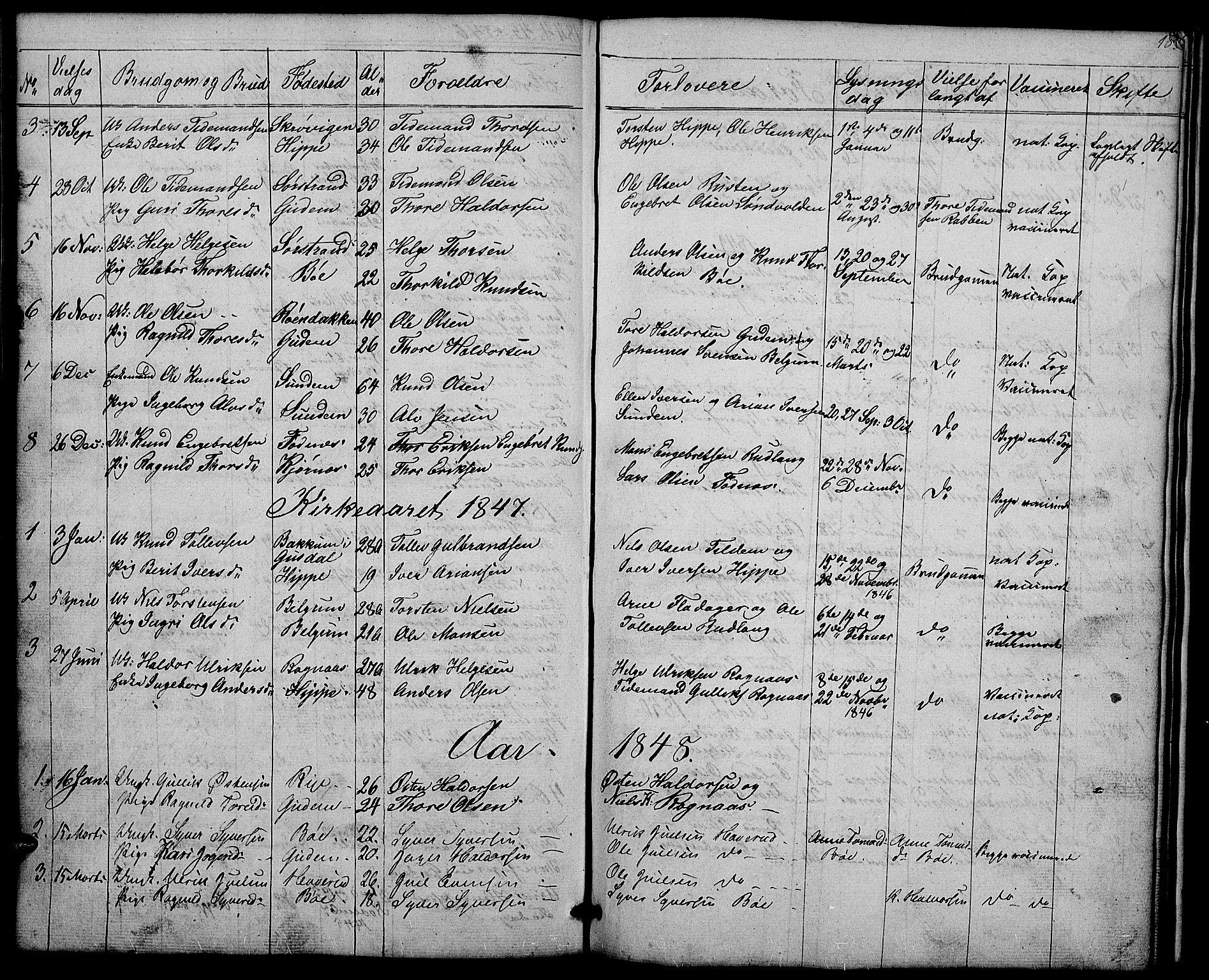 SAH, Nord-Aurdal prestekontor, Klokkerbok nr. 4, 1842-1882, s. 183