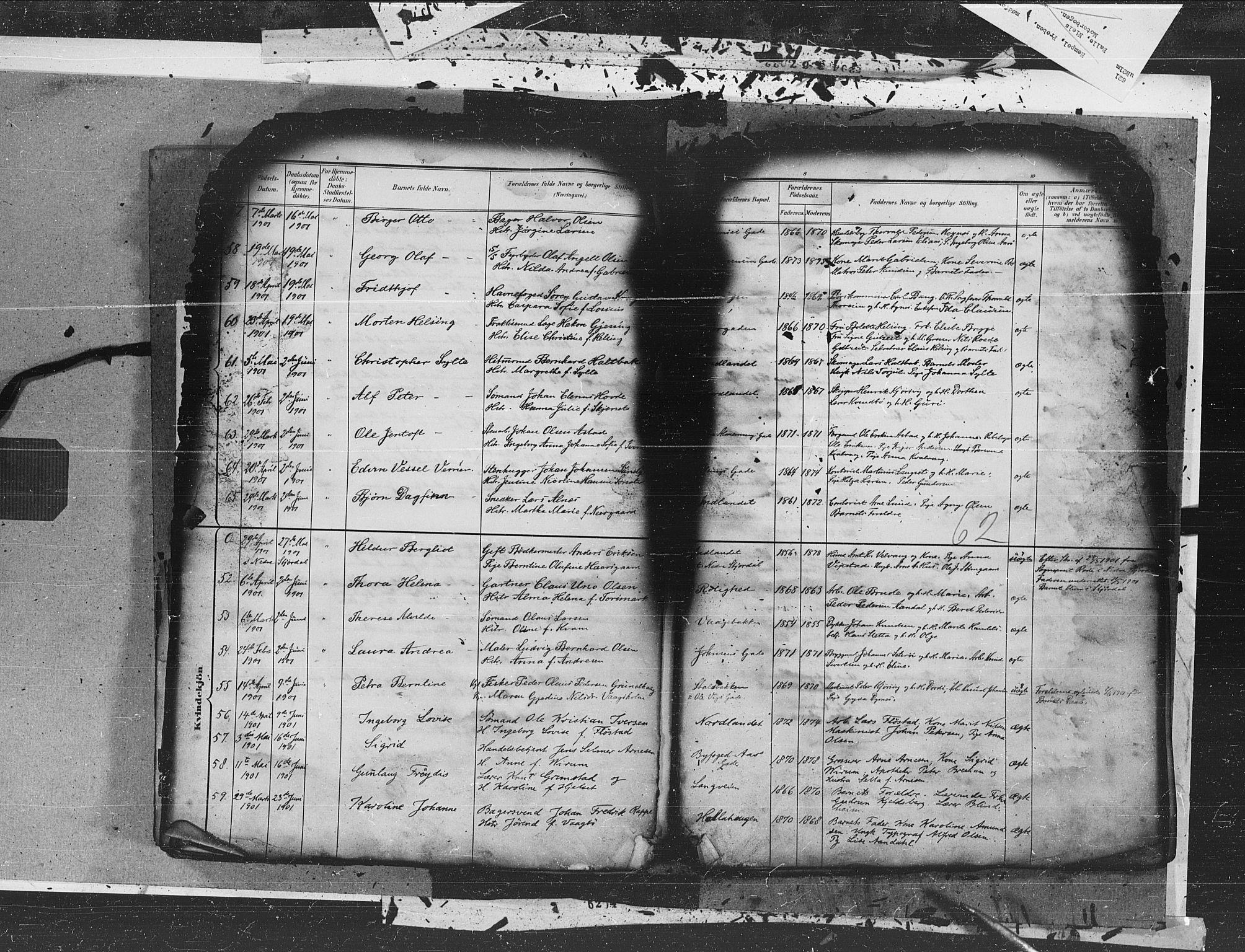 SAT, Ministerialprotokoller, klokkerbøker og fødselsregistre - Møre og Romsdal, 572/L0855: Ministerialbok nr. 572A18, 1898-1913, s. 62