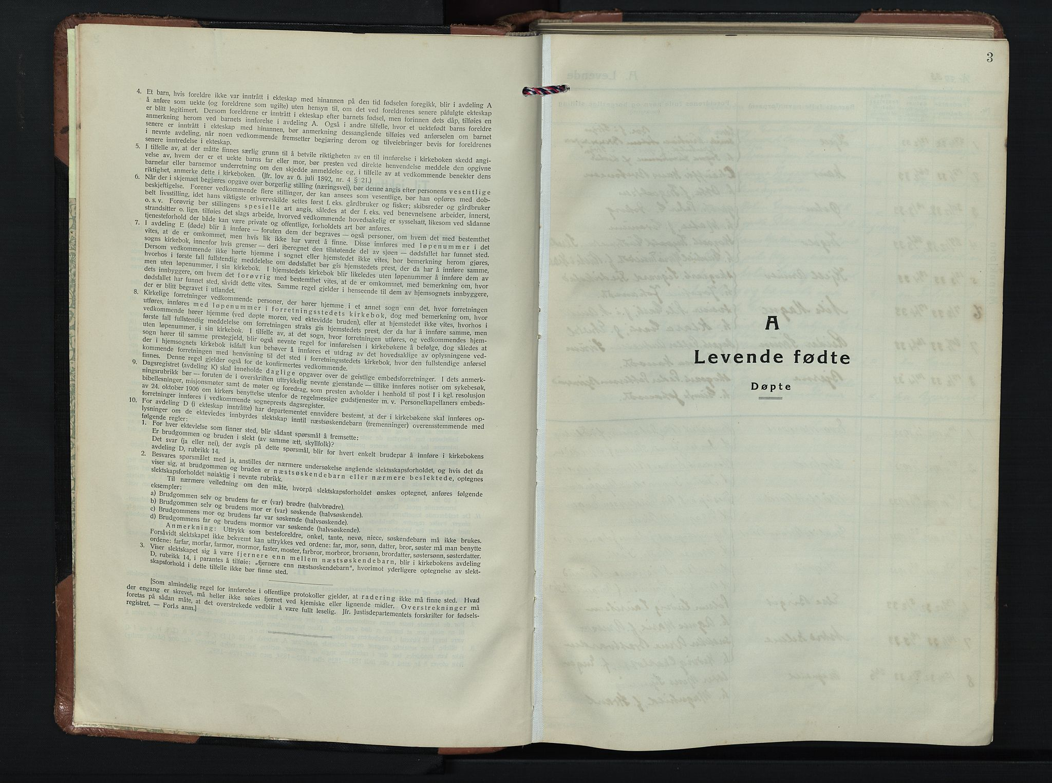SAH, Søndre Land prestekontor, L/L0009: Klokkerbok nr. 9, 1933-1954, s. 3