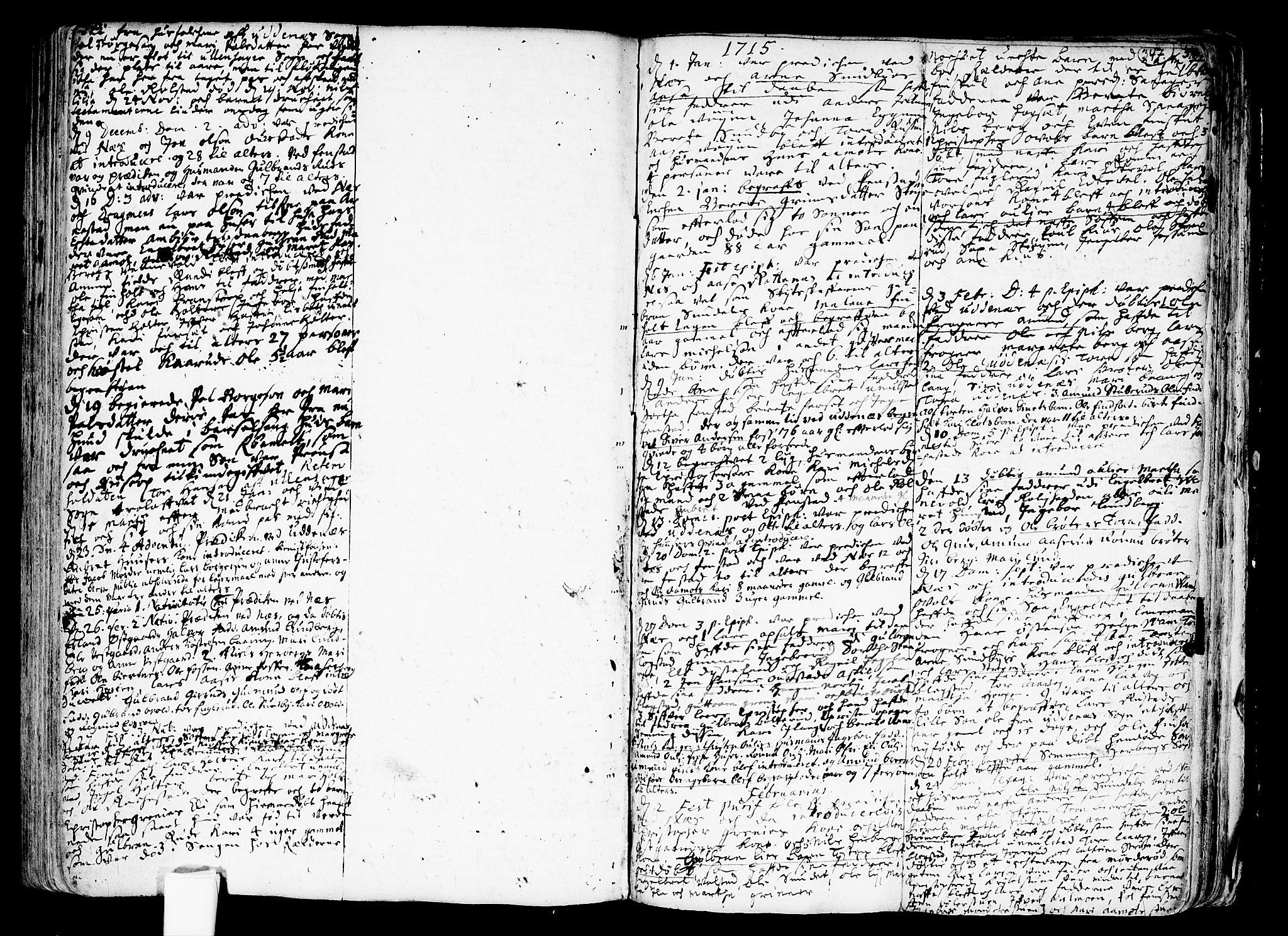 SAO, Nes prestekontor Kirkebøker, F/Fa/L0001: Ministerialbok nr. I 1, 1689-1716, s. 346-347