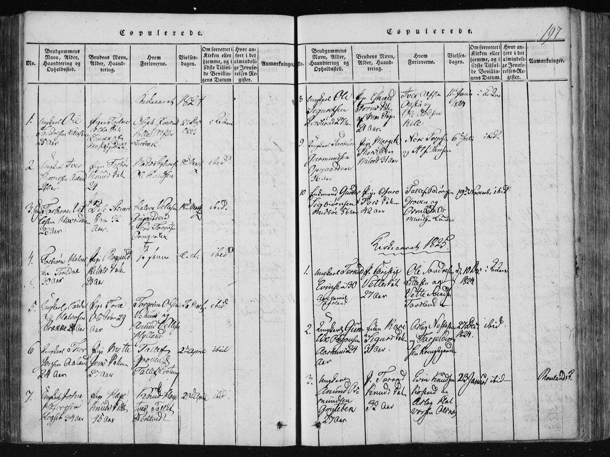 SAKO, Vinje kirkebøker, F/Fa/L0003: Ministerialbok nr. I 3, 1814-1843, s. 197