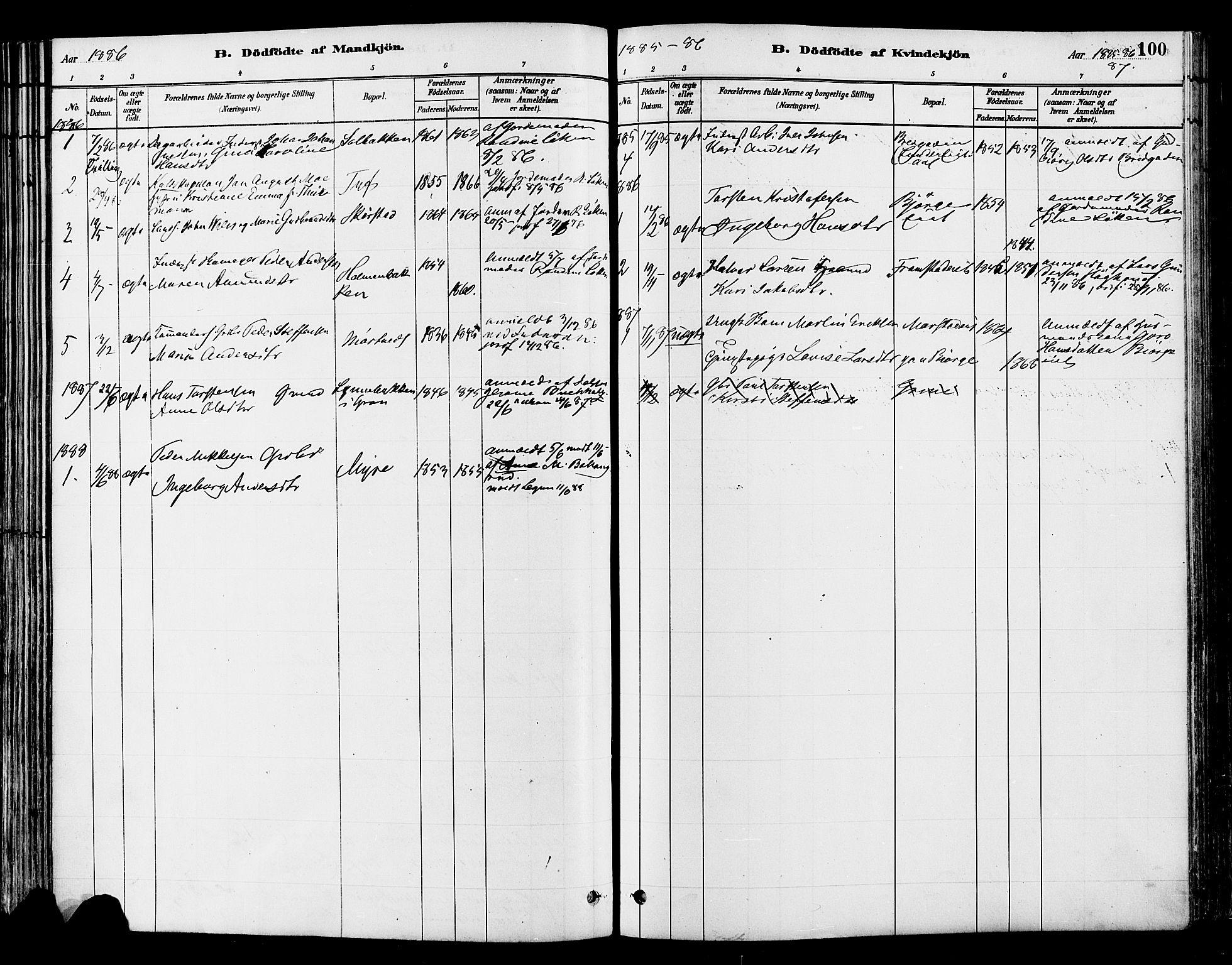SAH, Gran prestekontor, Ministerialbok nr. 14, 1880-1889, s. 100