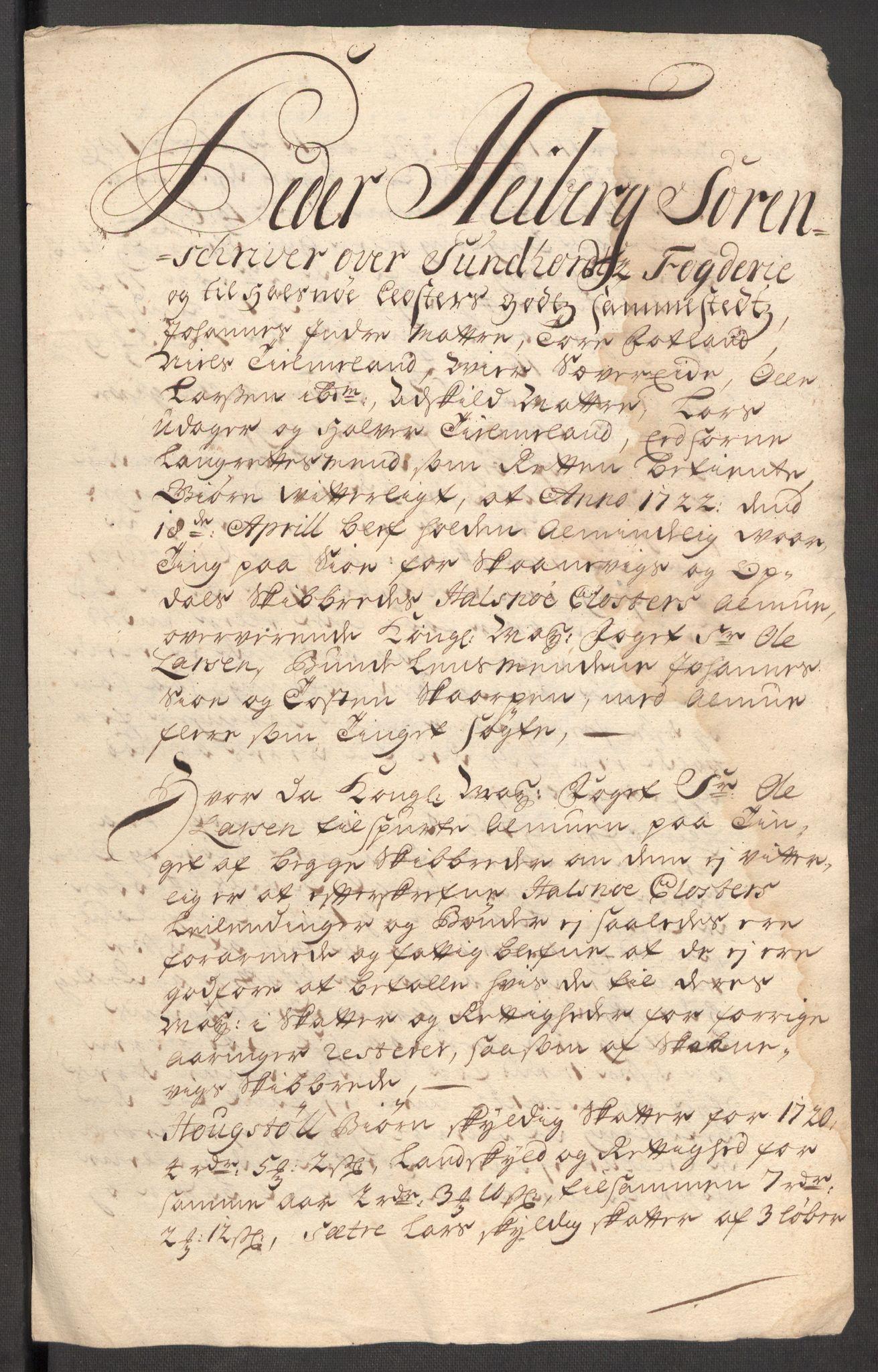 RA, Rentekammeret inntil 1814, Reviderte regnskaper, Fogderegnskap, R48/L3000: Fogderegnskap Sunnhordland og Hardanger, 1721, s. 419