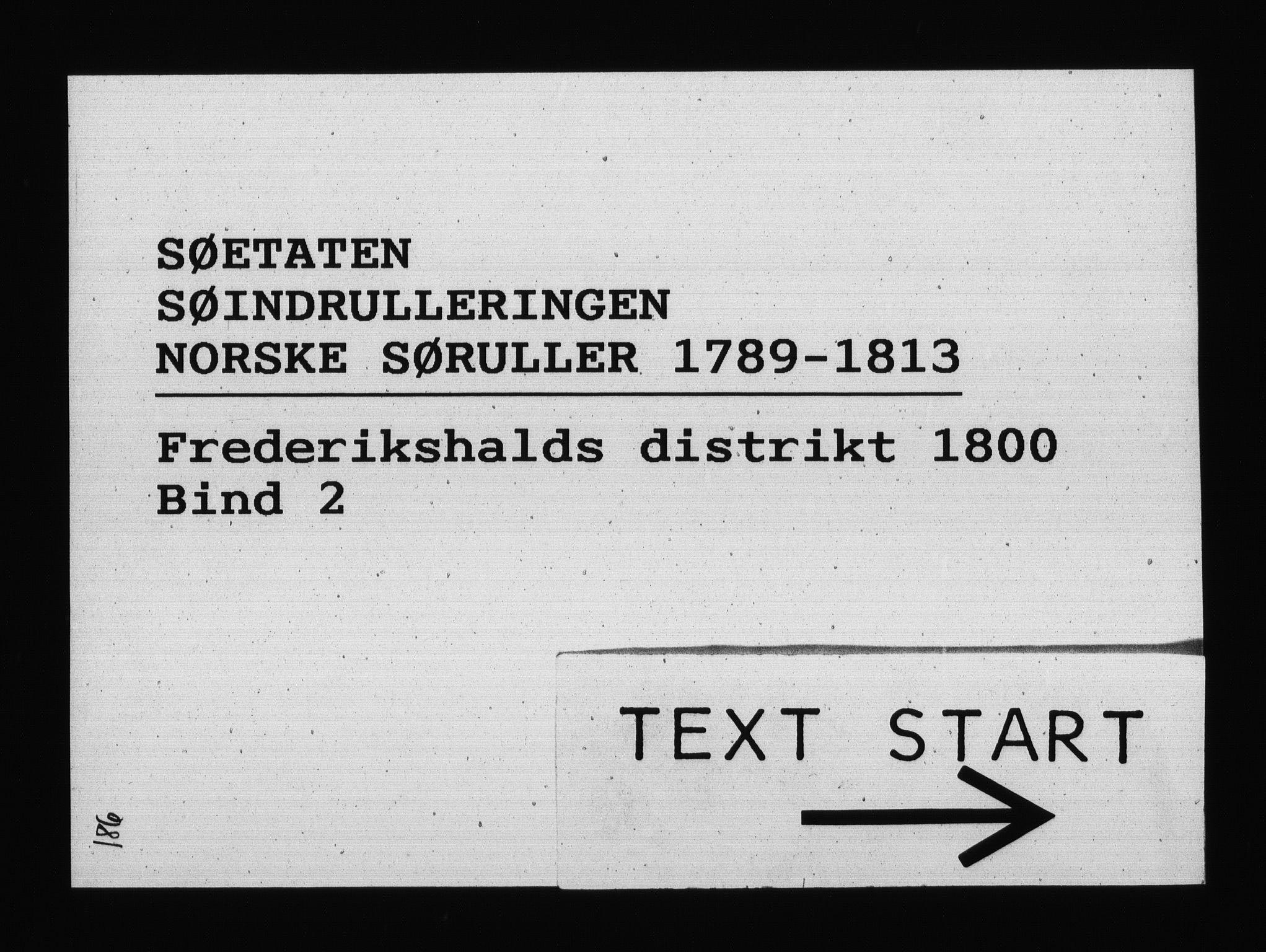 RA, Sjøetaten, F/L0187: Fredrikshalds distrikt, bind 2, 1800