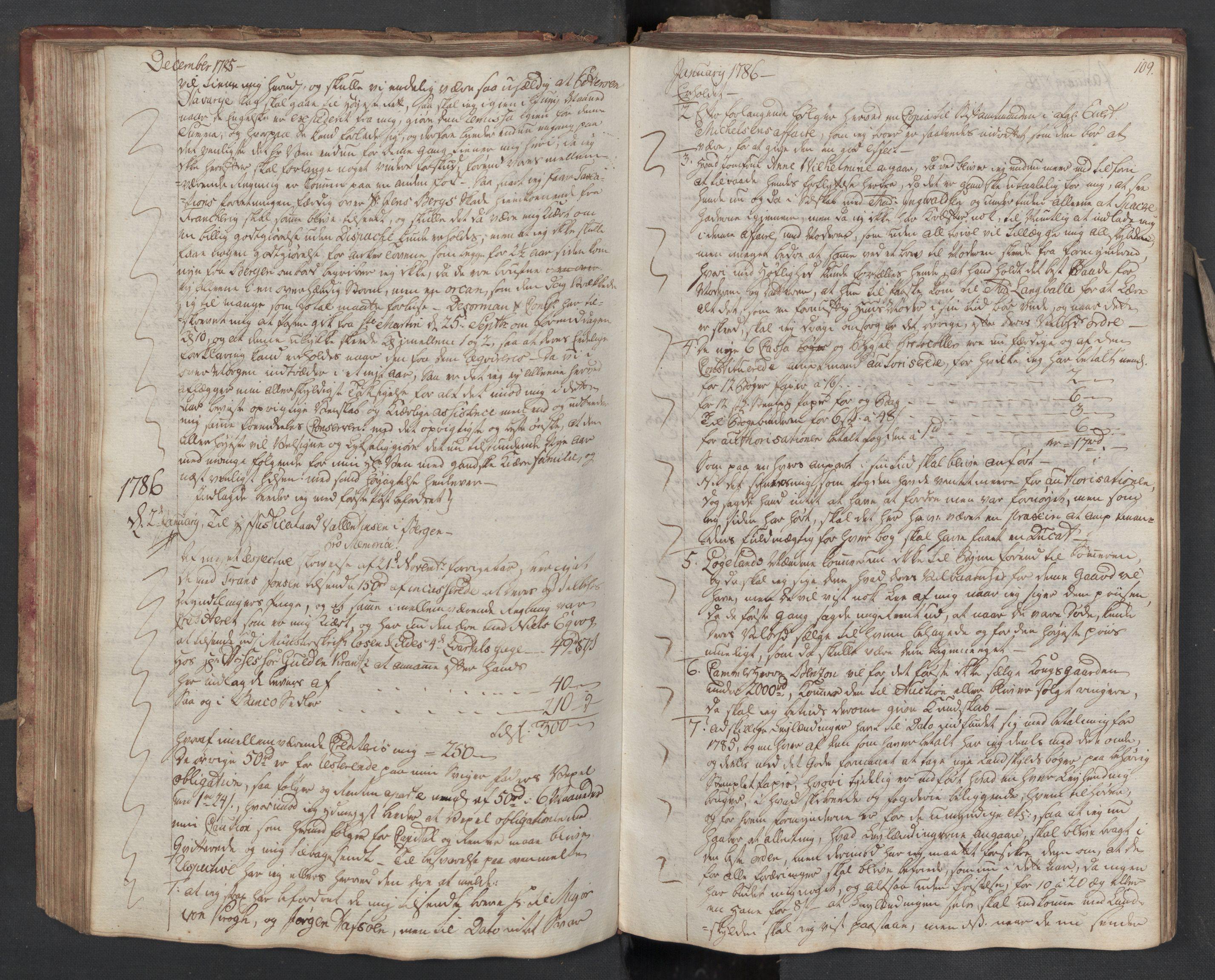 SAST, Pa 0003 - Ploug & Sundt, handelshuset, B/L0005: Kopibok, 1784-1788, s. 108b-109a
