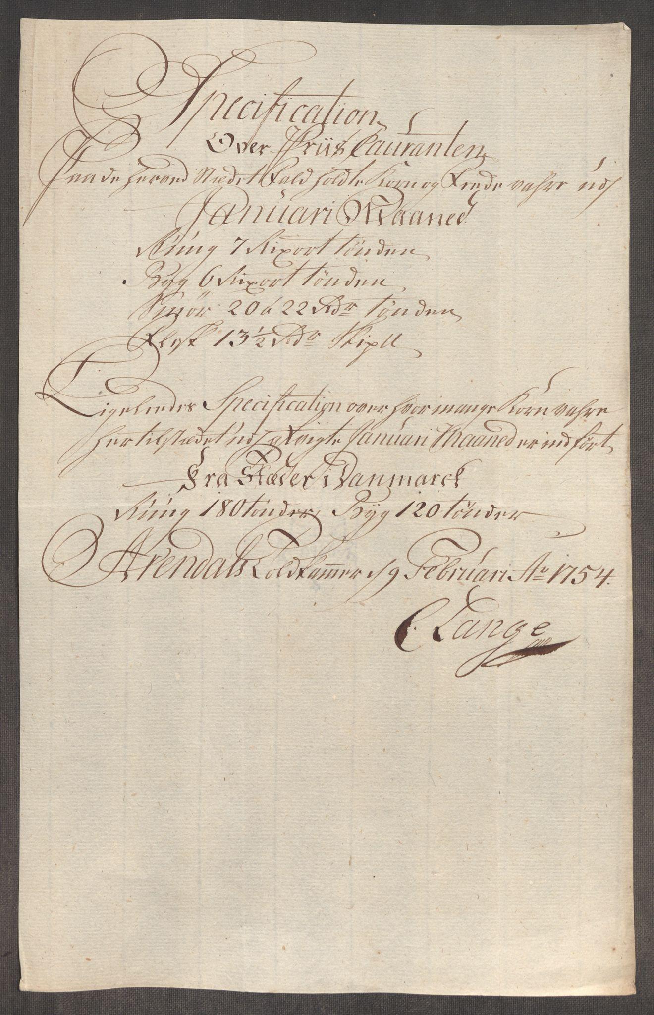 RA, Rentekammeret inntil 1814, Realistisk ordnet avdeling, Oe/L0005: [Ø1]: Priskuranter, 1753-1757, s. 296