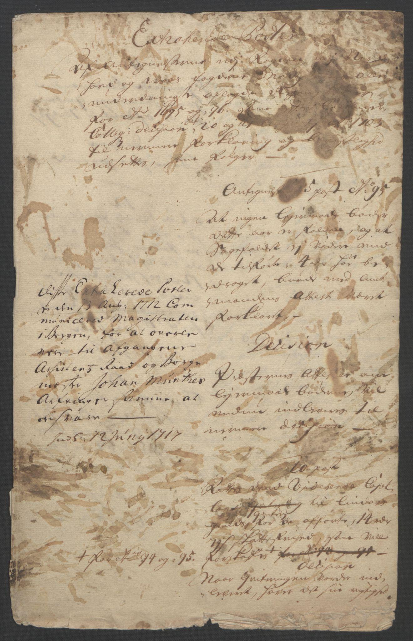 RA, Rentekammeret inntil 1814, Reviderte regnskaper, Fogderegnskap, R51/L3183: Fogderegnskap Nordhordland og Voss, 1695-1697, s. 289