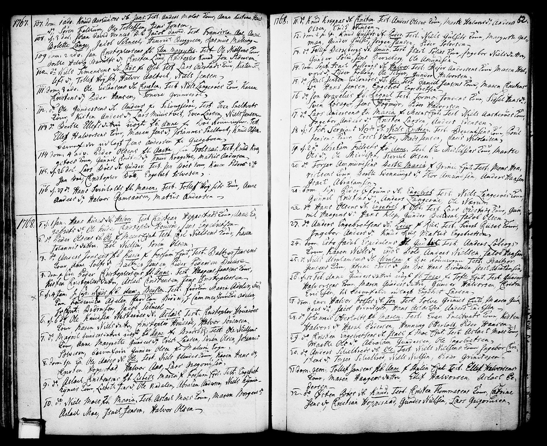 SAKO, Gjerpen kirkebøker, F/Fa/L0002: Ministerialbok nr. 2, 1747-1795, s. 52