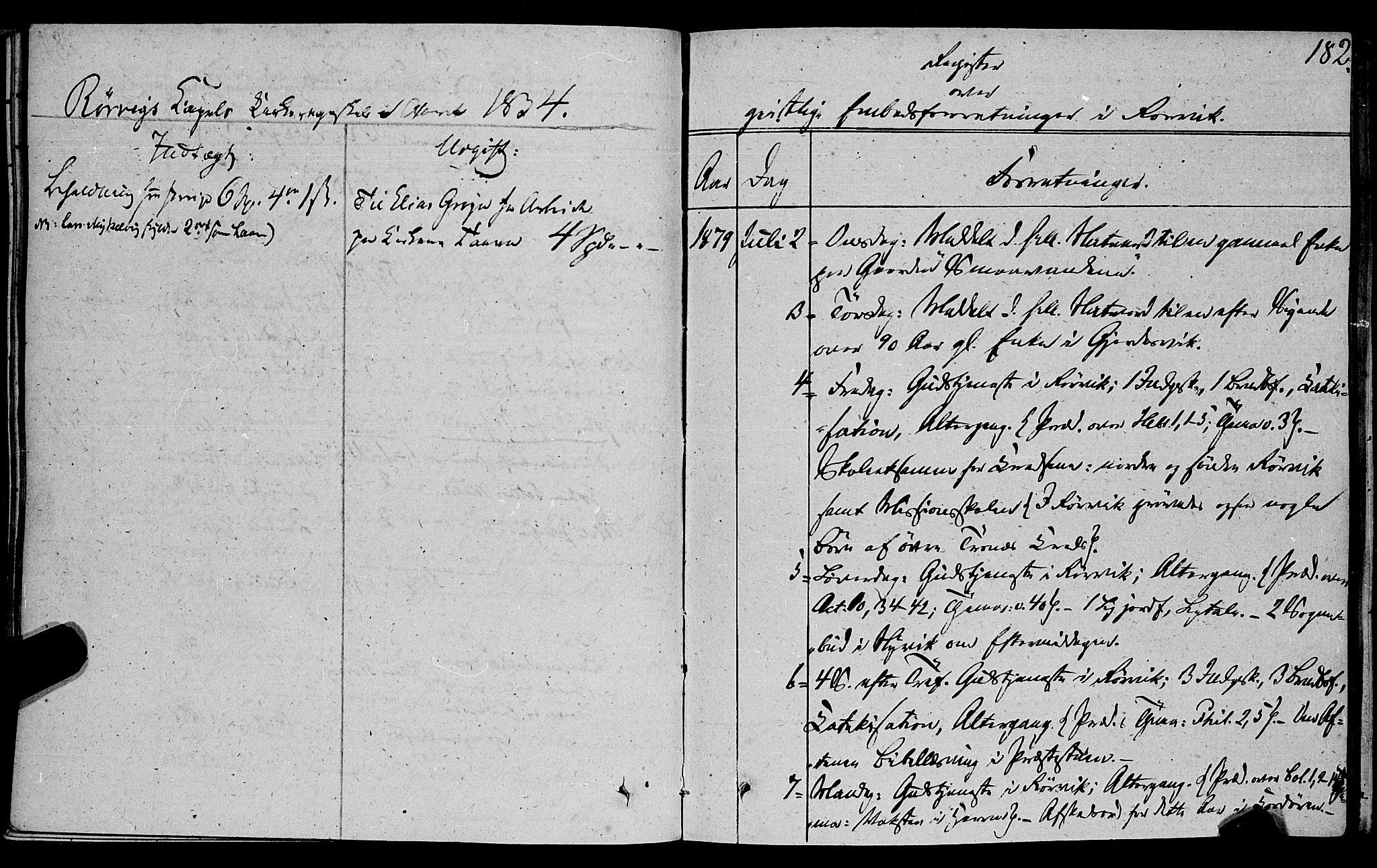 SAT, Ministerialprotokoller, klokkerbøker og fødselsregistre - Nord-Trøndelag, 762/L0538: Ministerialbok nr. 762A02 /1, 1833-1879, s. 182