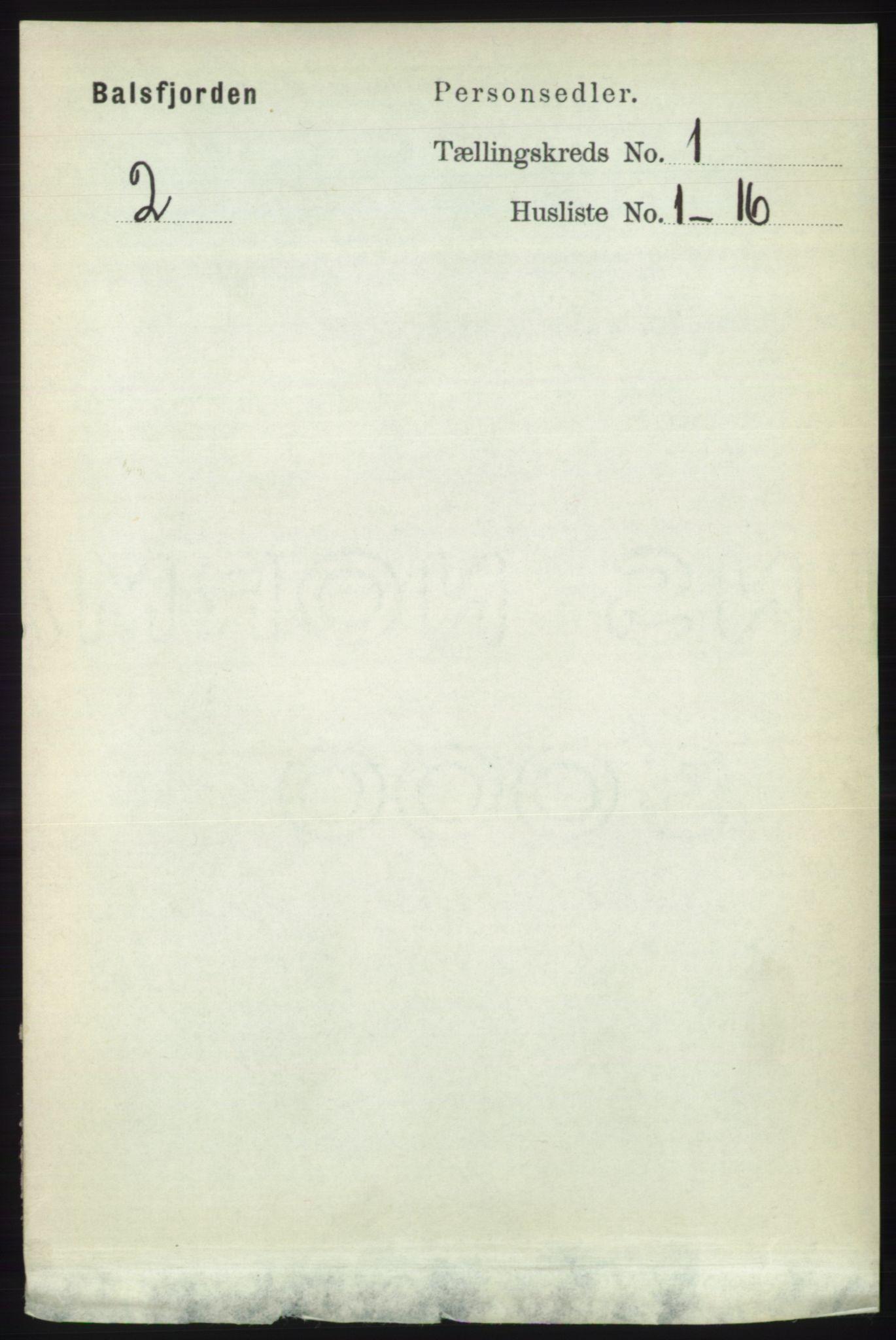 RA, Folketelling 1891 for 1933 Balsfjord herred, 1891, s. 71