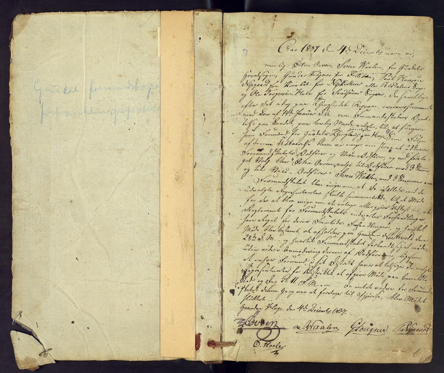 OFA, Gausdal herredsstyre - forhandlingsprotokoll, 1838-1854