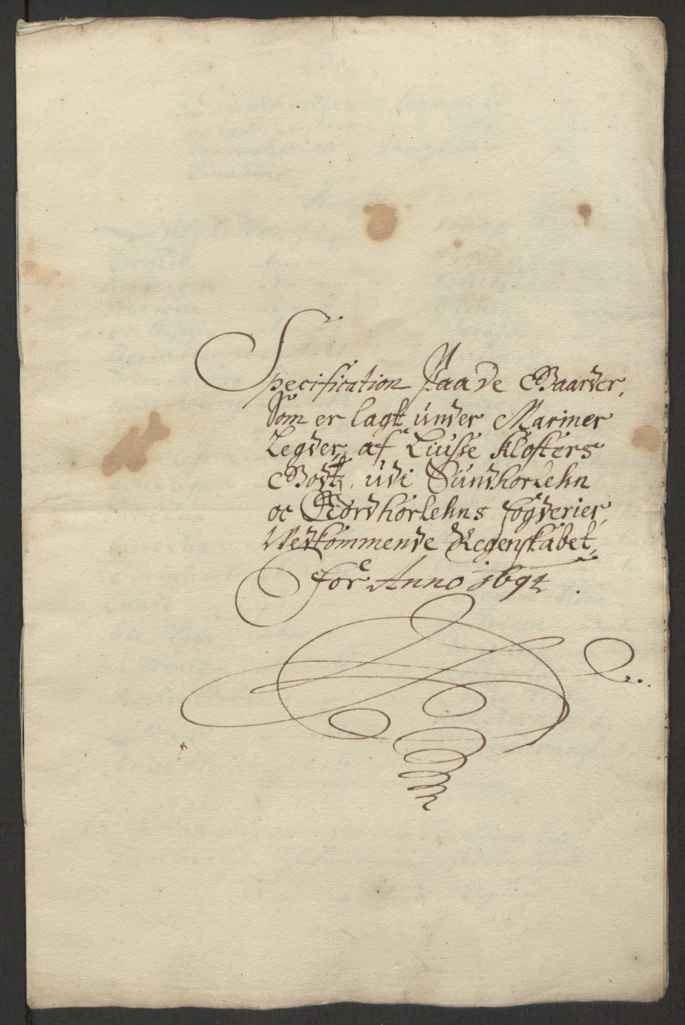 RA, Rentekammeret inntil 1814, Reviderte regnskaper, Fogderegnskap, R50/L3159: Fogderegnskap Lyse kloster, 1691-1709, s. 31