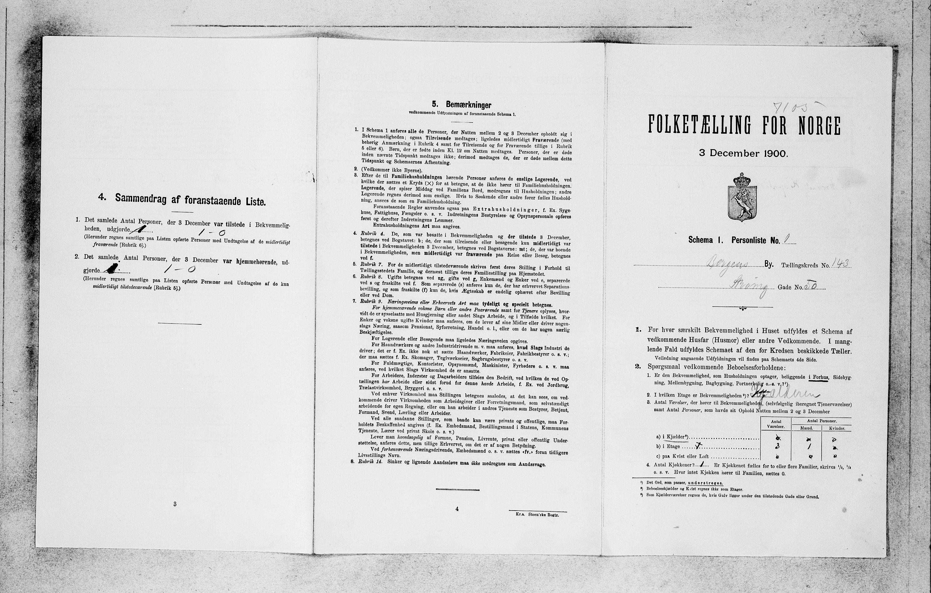 SAB, Folketelling 1900 for 1301 Bergen kjøpstad, 1900, s. 29551