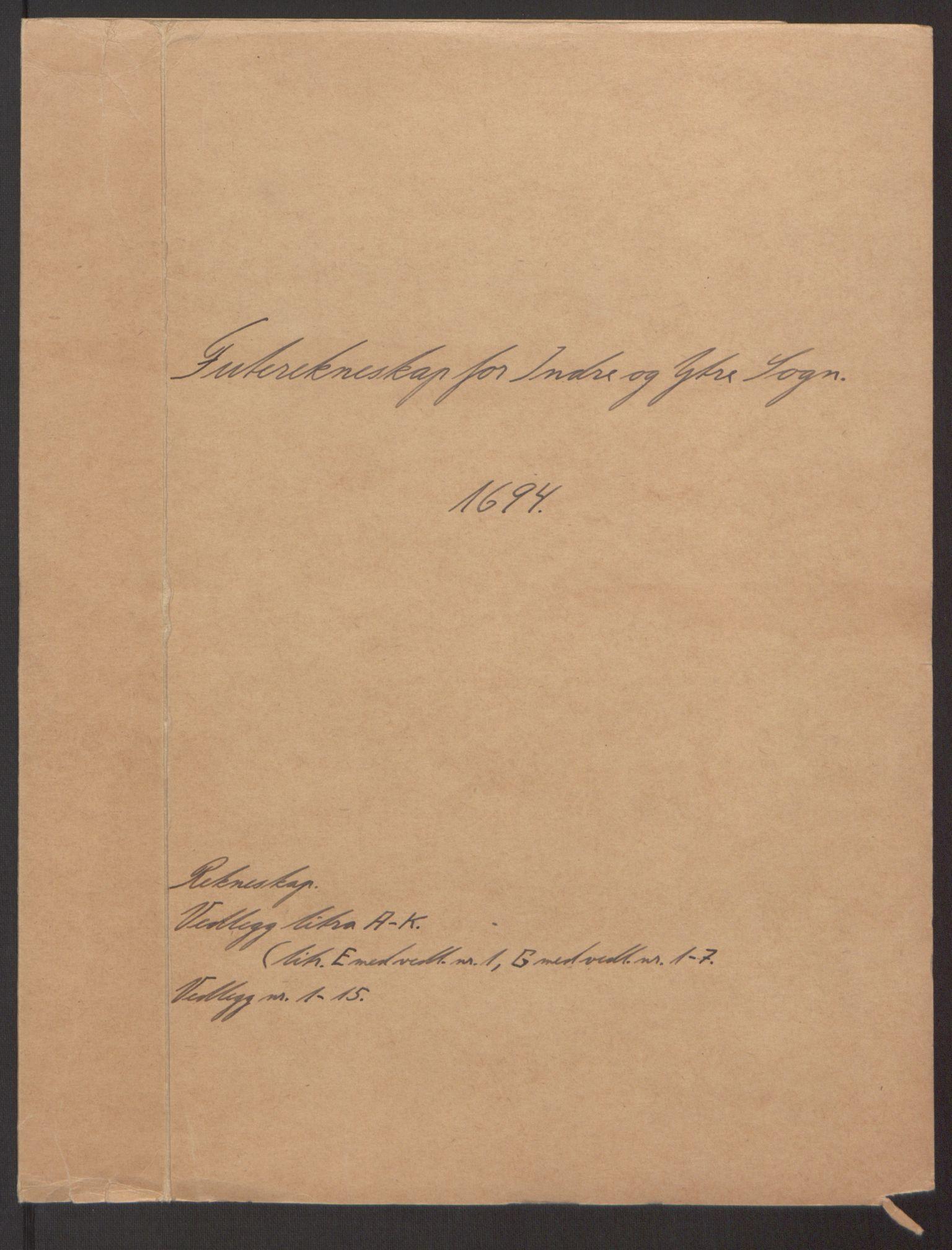 RA, Rentekammeret inntil 1814, Reviderte regnskaper, Fogderegnskap, R52/L3307: Fogderegnskap Sogn, 1693-1694, s. 264